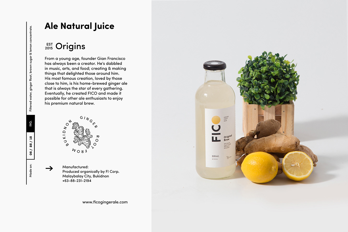 S H A O - Branding + Strategy Design Studio - FICO Ginger Craft Ale
