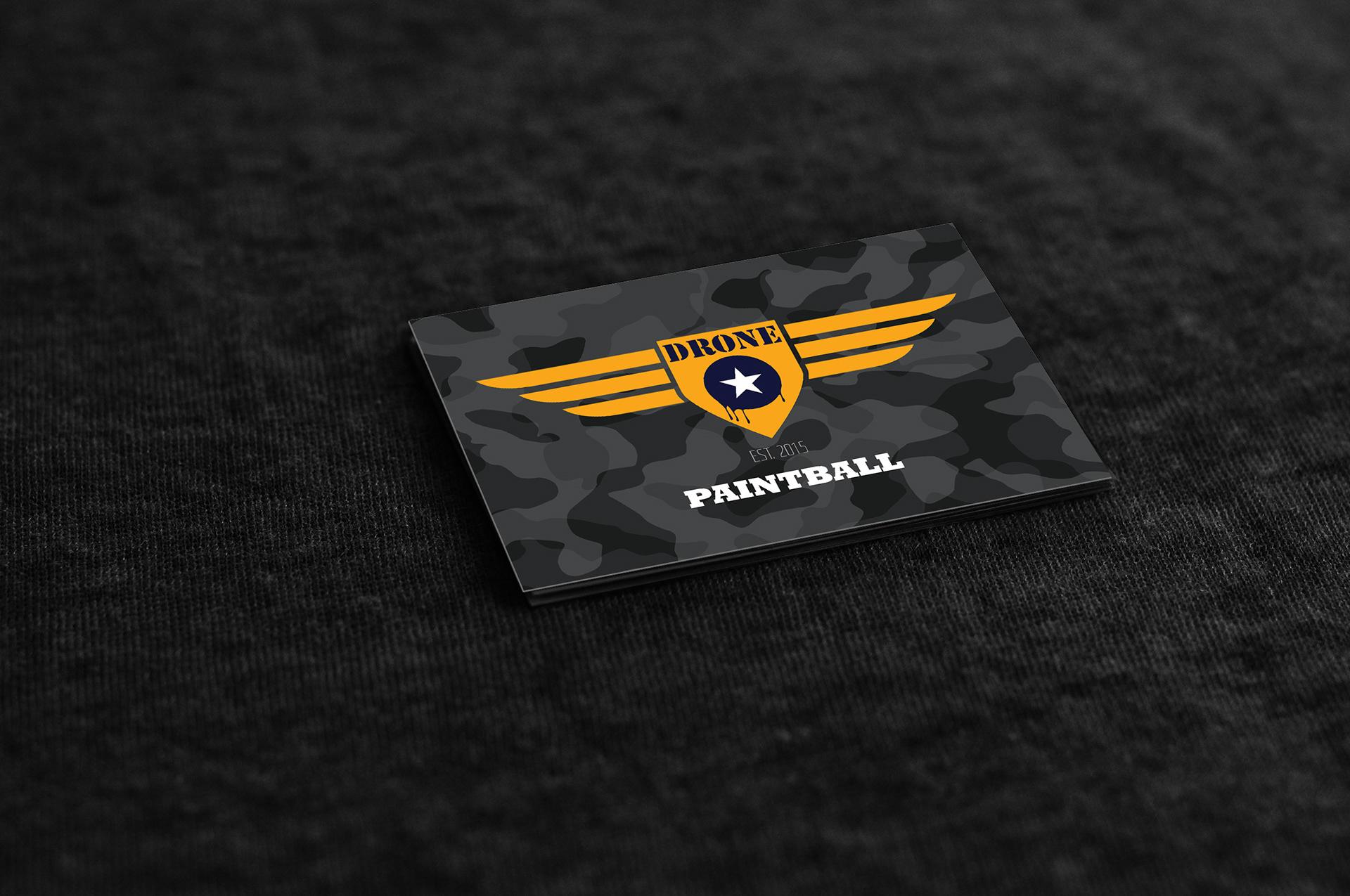 Thiago Crevatin | Portfolio - DRONE STAR PAINTBALL | Business Card