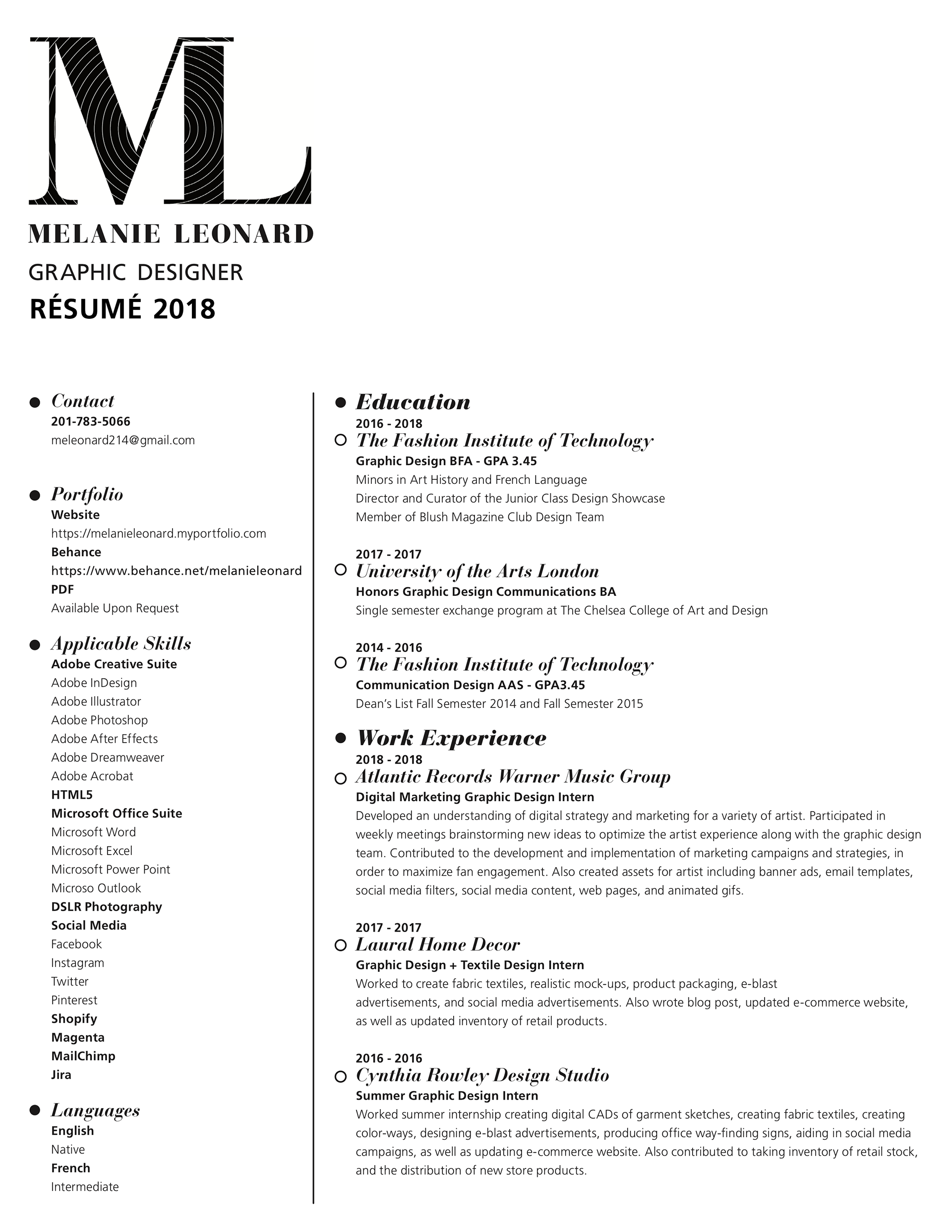 Melanie Leonard Resume