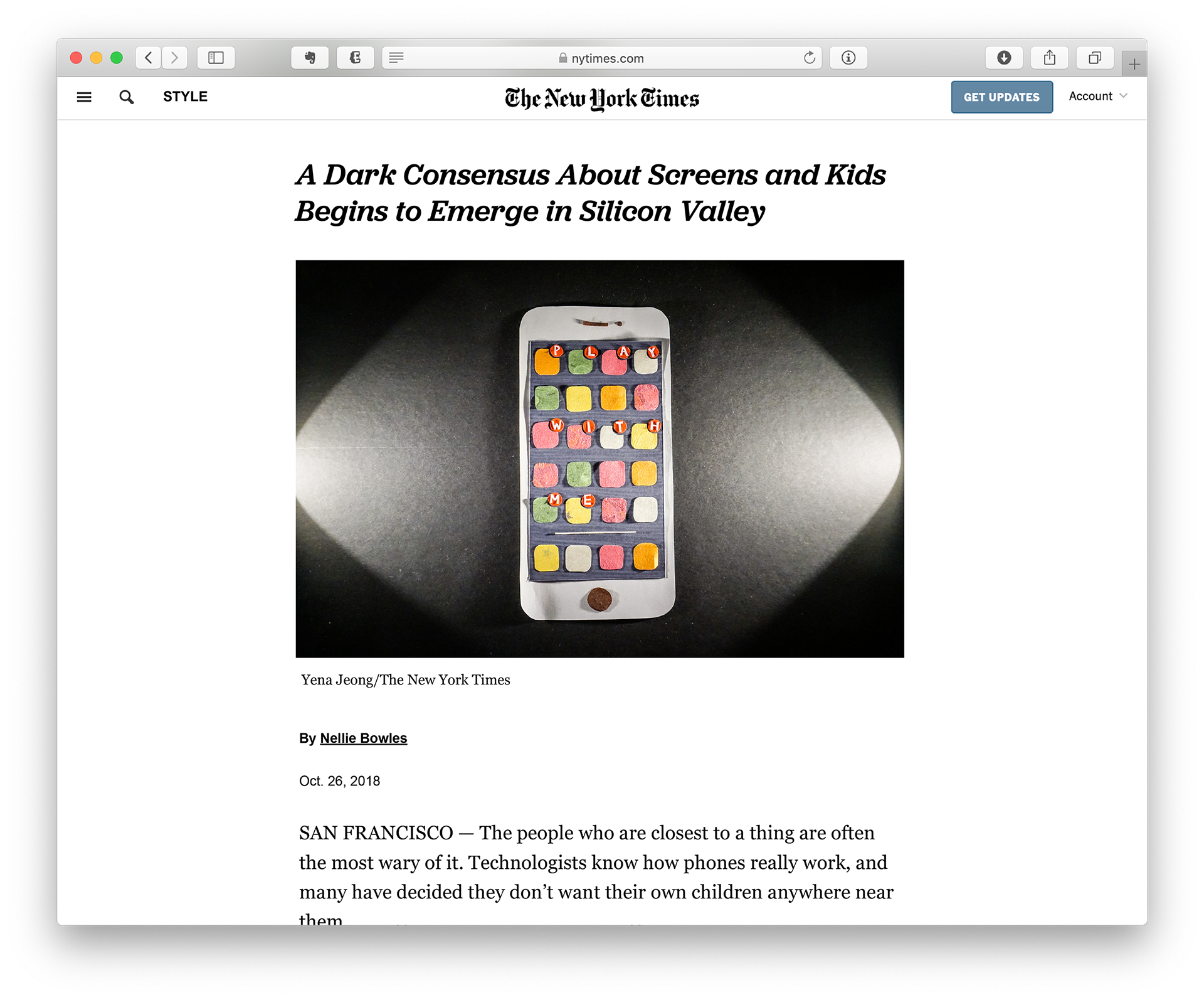 A Dark Consensus About Screens And Kids >> Yena Jeong Play With Me