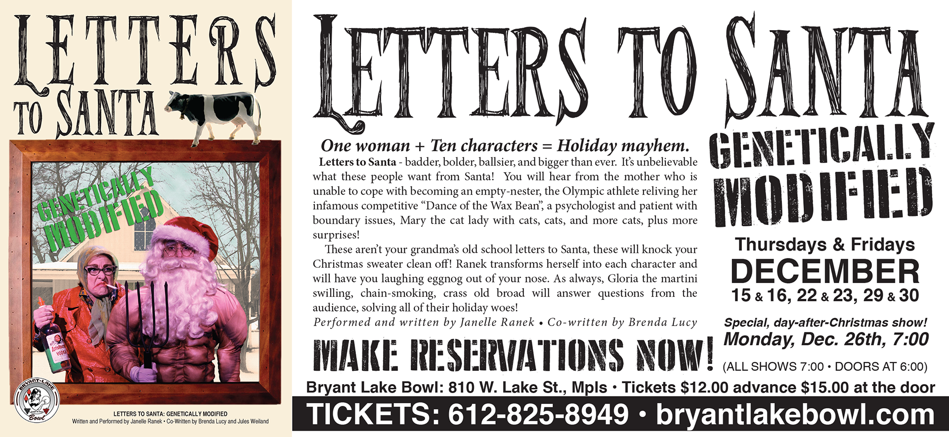 postcard for one woman show letters to santa genetically modified