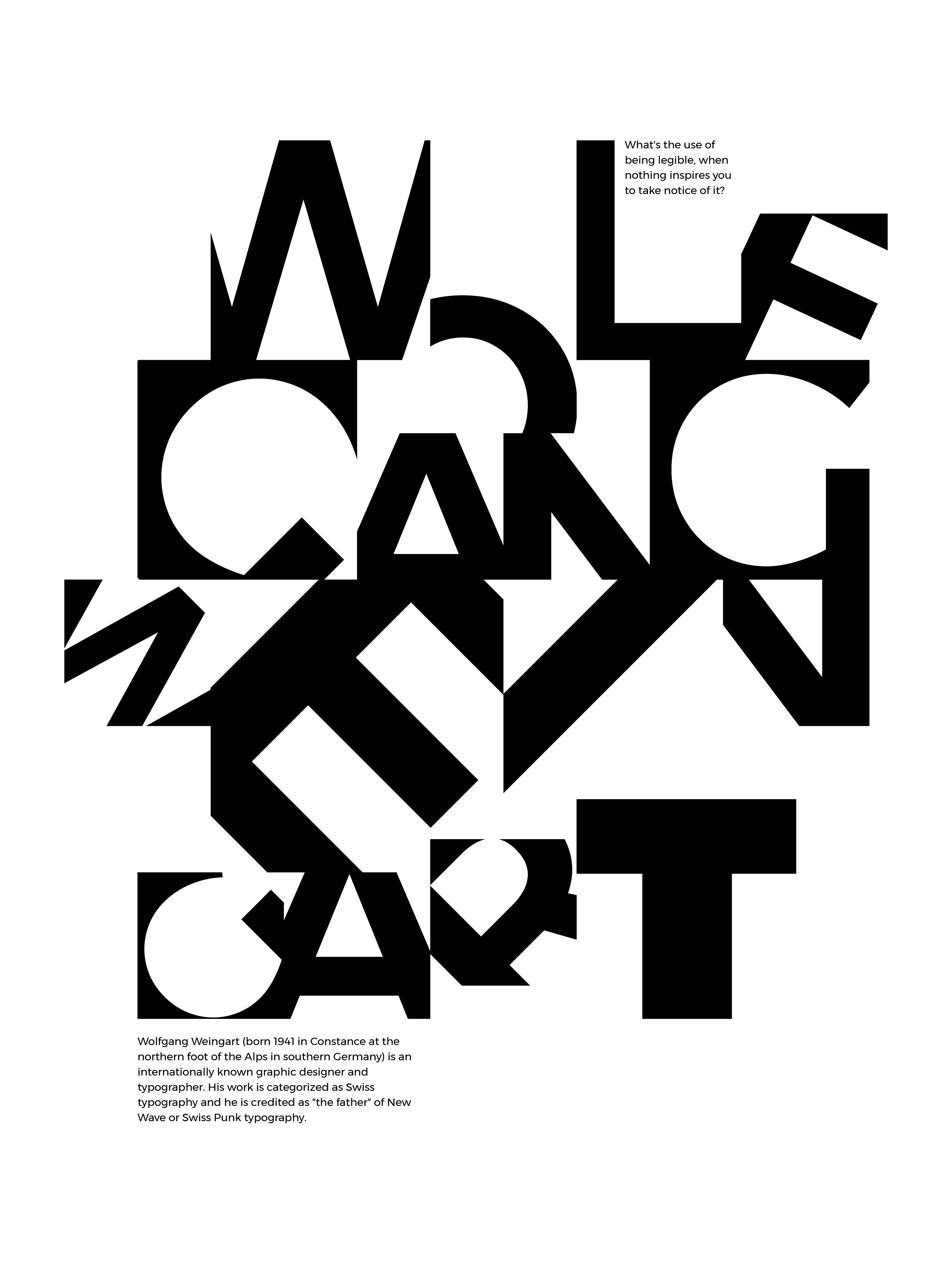 Matthew Carter Wolfgang Weingart Poster