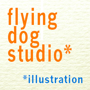 flying dog studio illustration