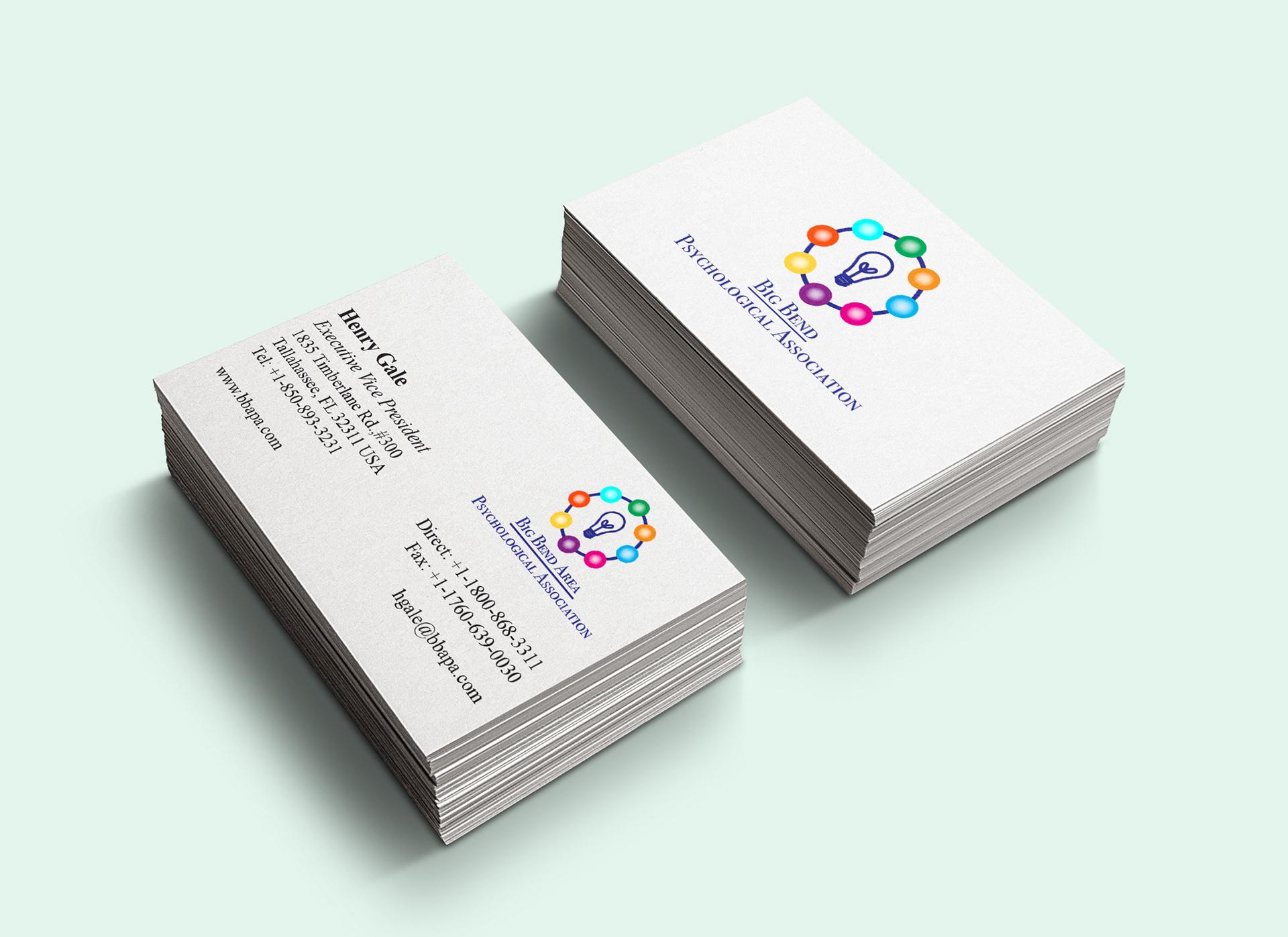 Sehar iqbal logo branding big bend psychological association business card design colourmoves