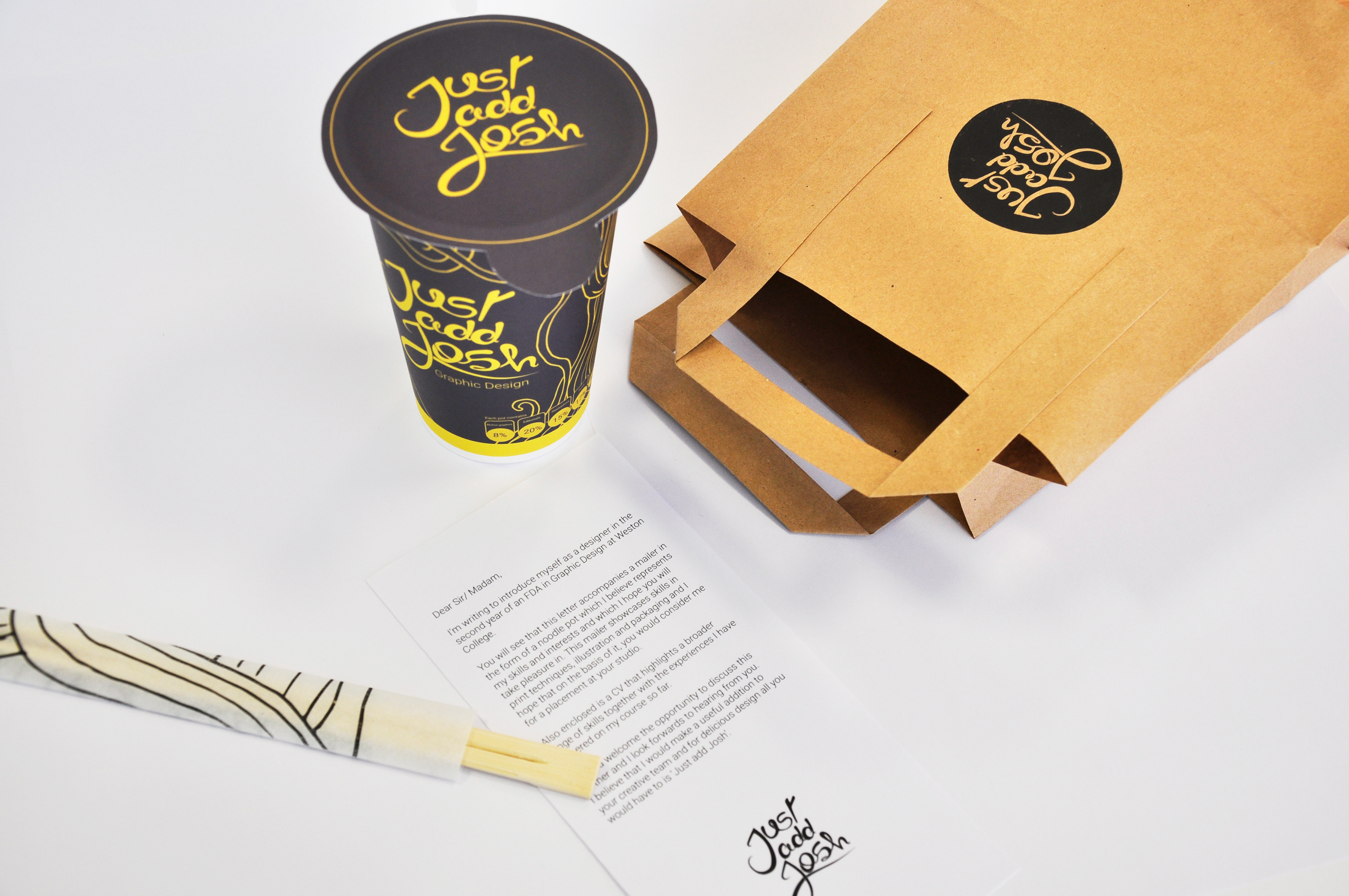 Jhl design big character big design the pot itself contains my cv handprinted on a napkin a branded badge my business card and a digital based portfolio also containing examples of motion magicingreecefo Gallery