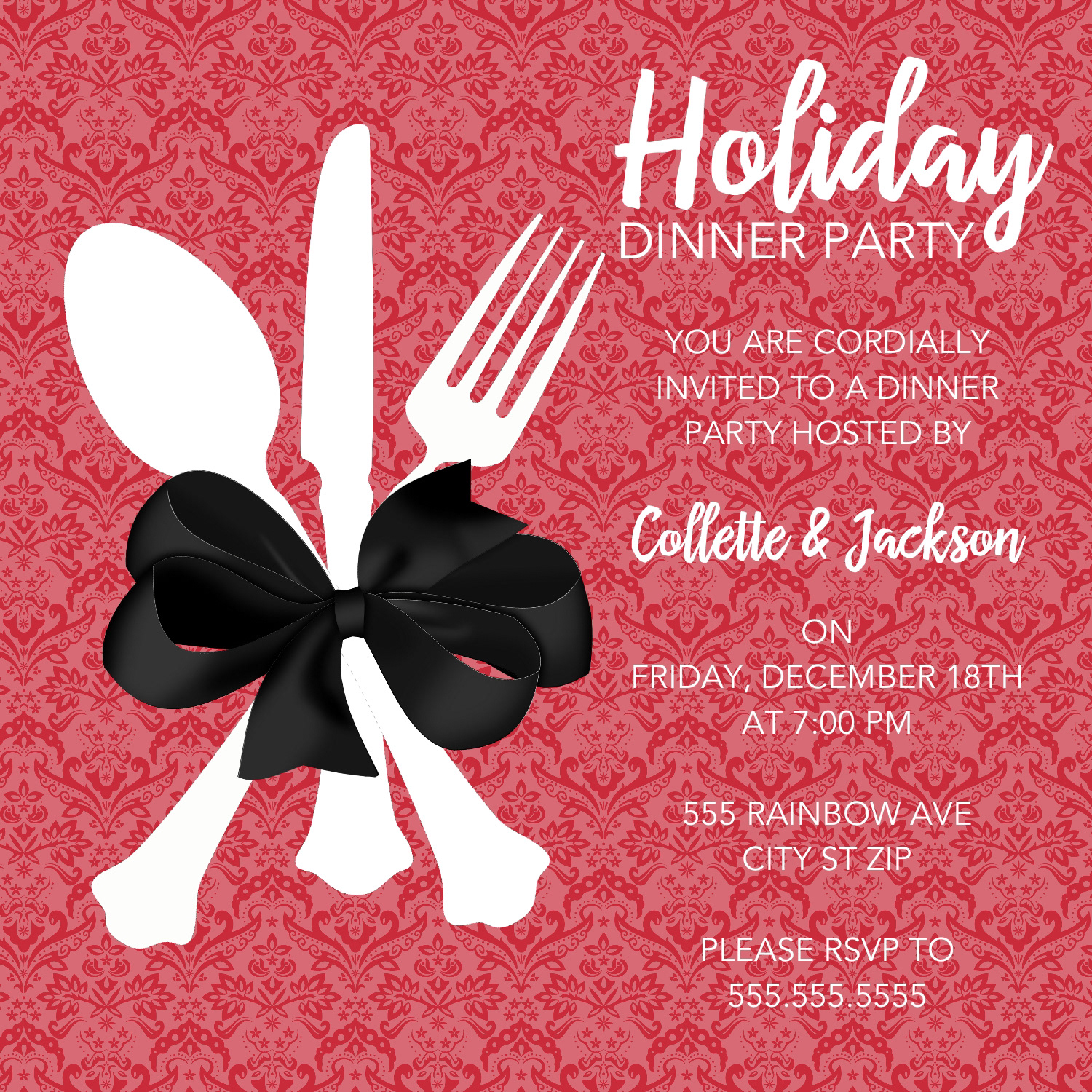 Camille Creates - Holiday Dinner Party Invitation