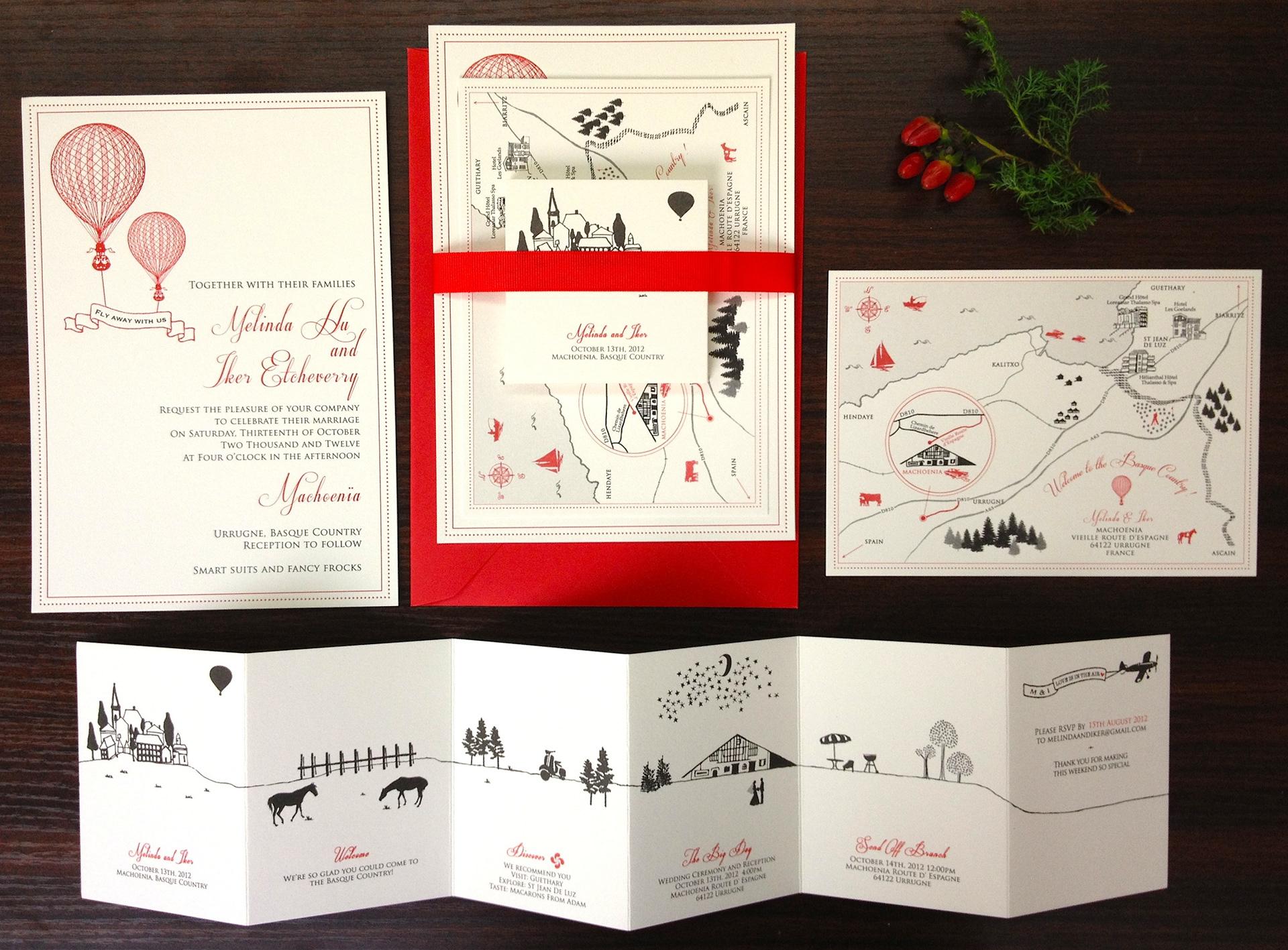 Ka Lo Chu - Rustic Basque Country Wedding Invitation