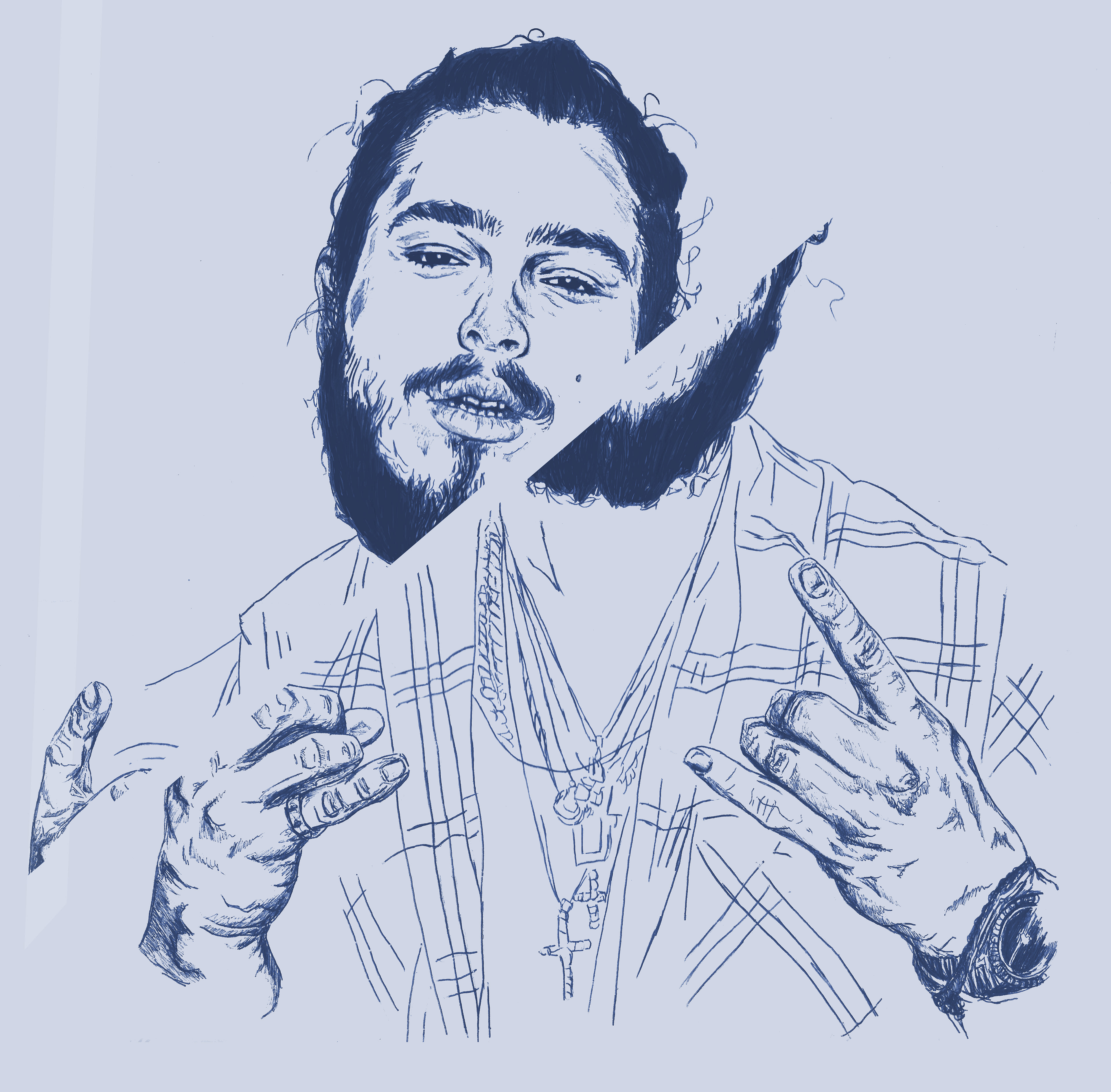 Post Malone Drawing: Post Malone Final Ideas For Pages (2017