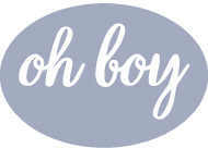 oh boy art design logo