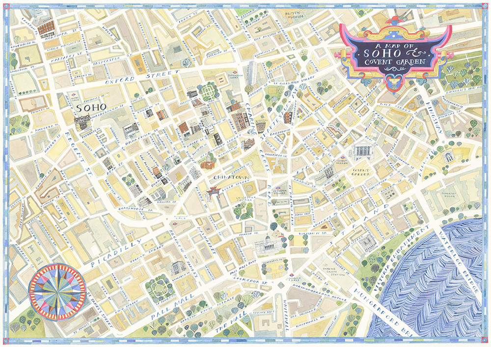 Map Soho London.Helen Cann A Map Of Soho Private Client