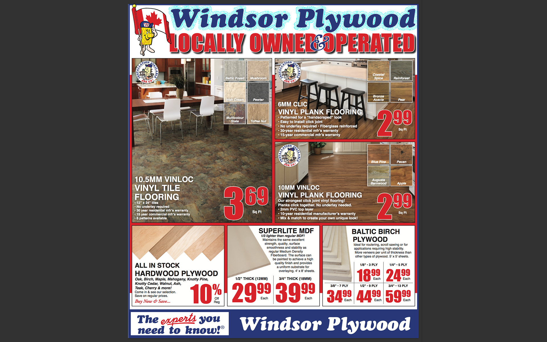 Windsor Plywood Advertisement