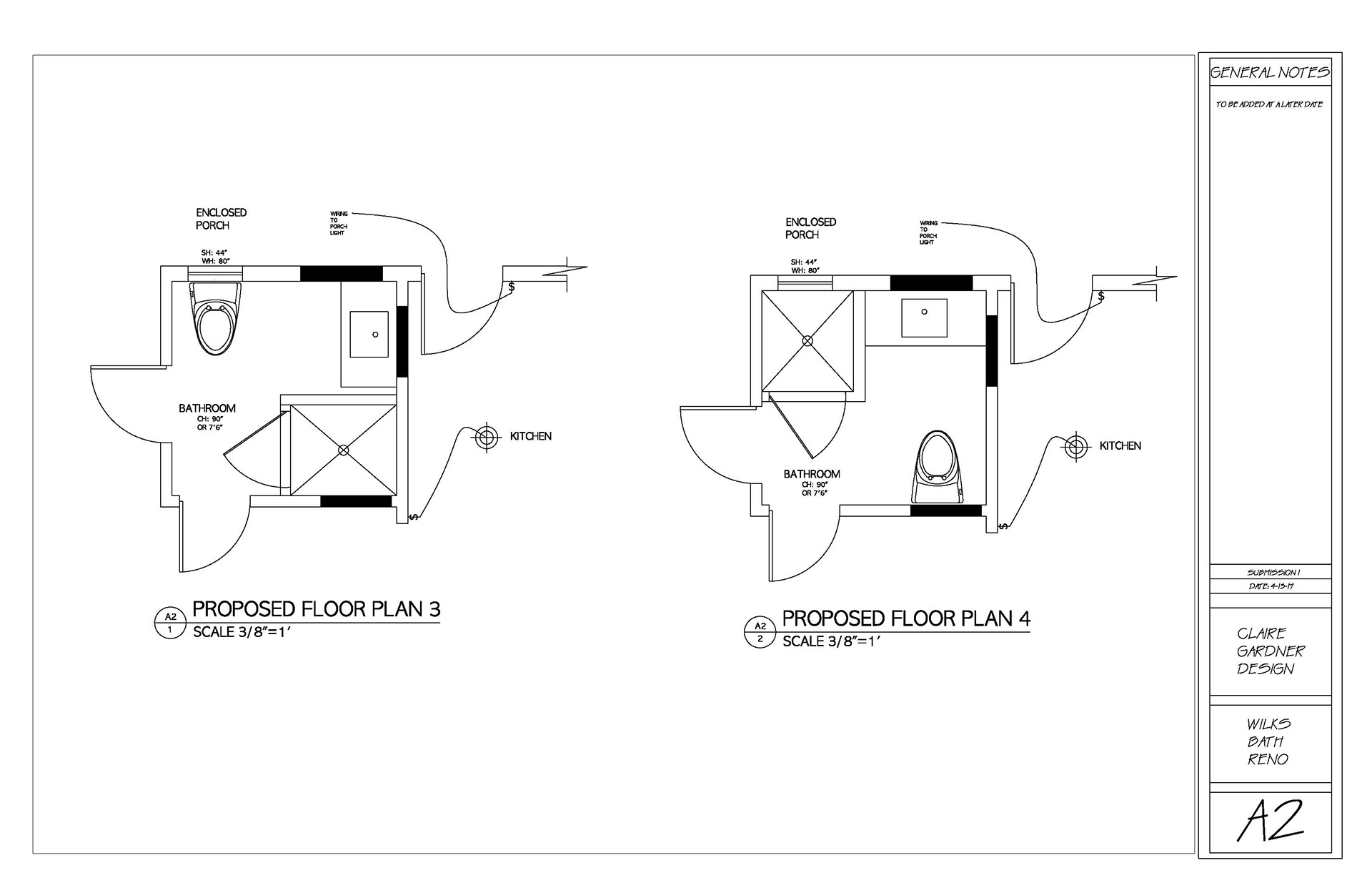 Claire Gardner - Wenham, MA- Master Bathroom Design