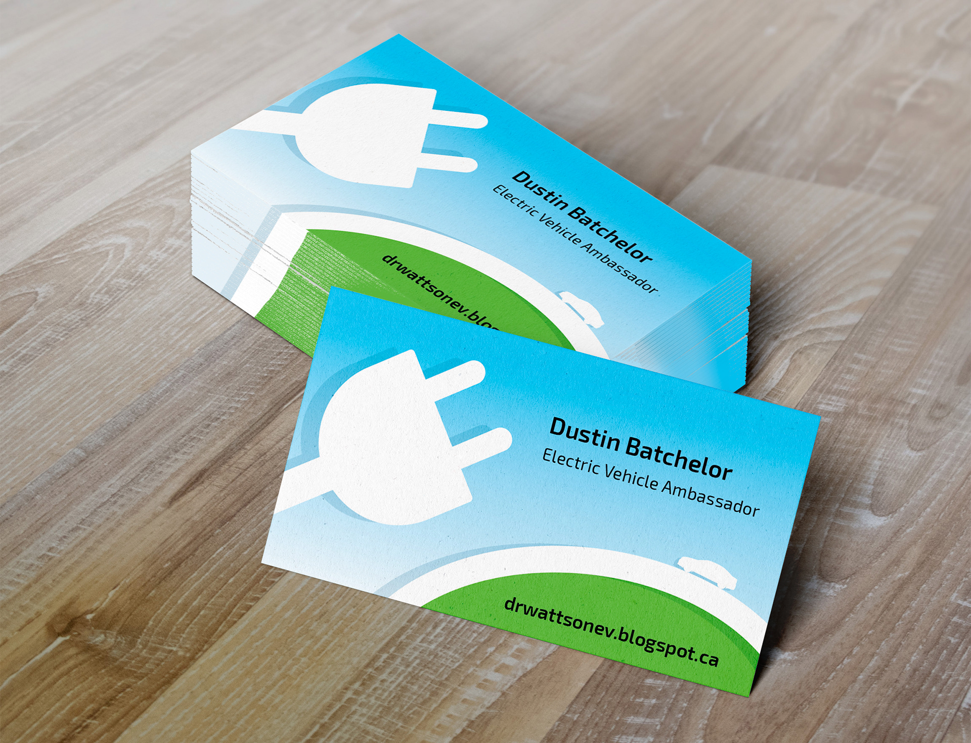 Amanda batchelor electric vehicle advocate business card dustin gets asked so many questions about his electric vehicles that he started a blog on the subject he volunteers with emotive bc a campaign that raises reheart Images