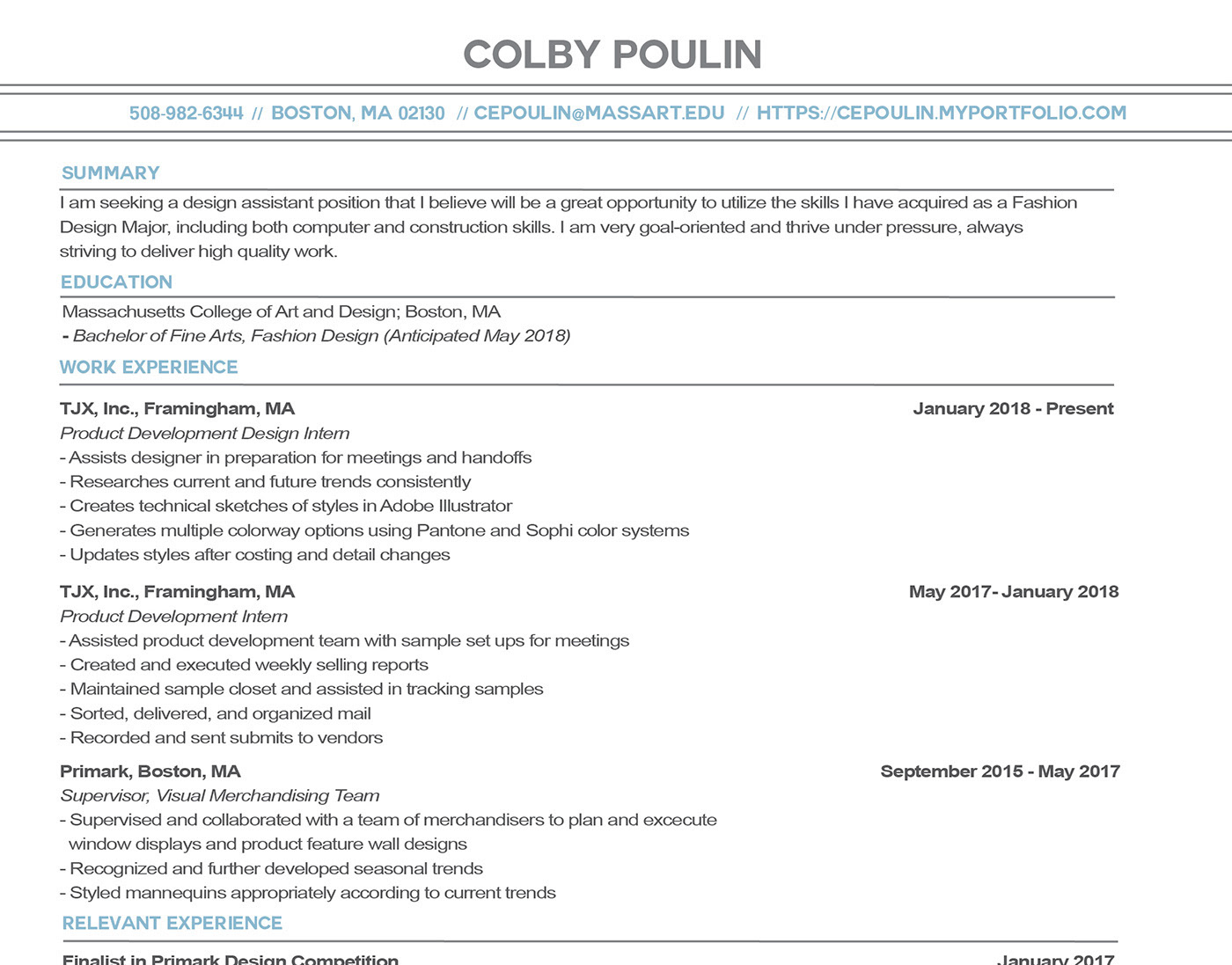 Colby Poulin Contact