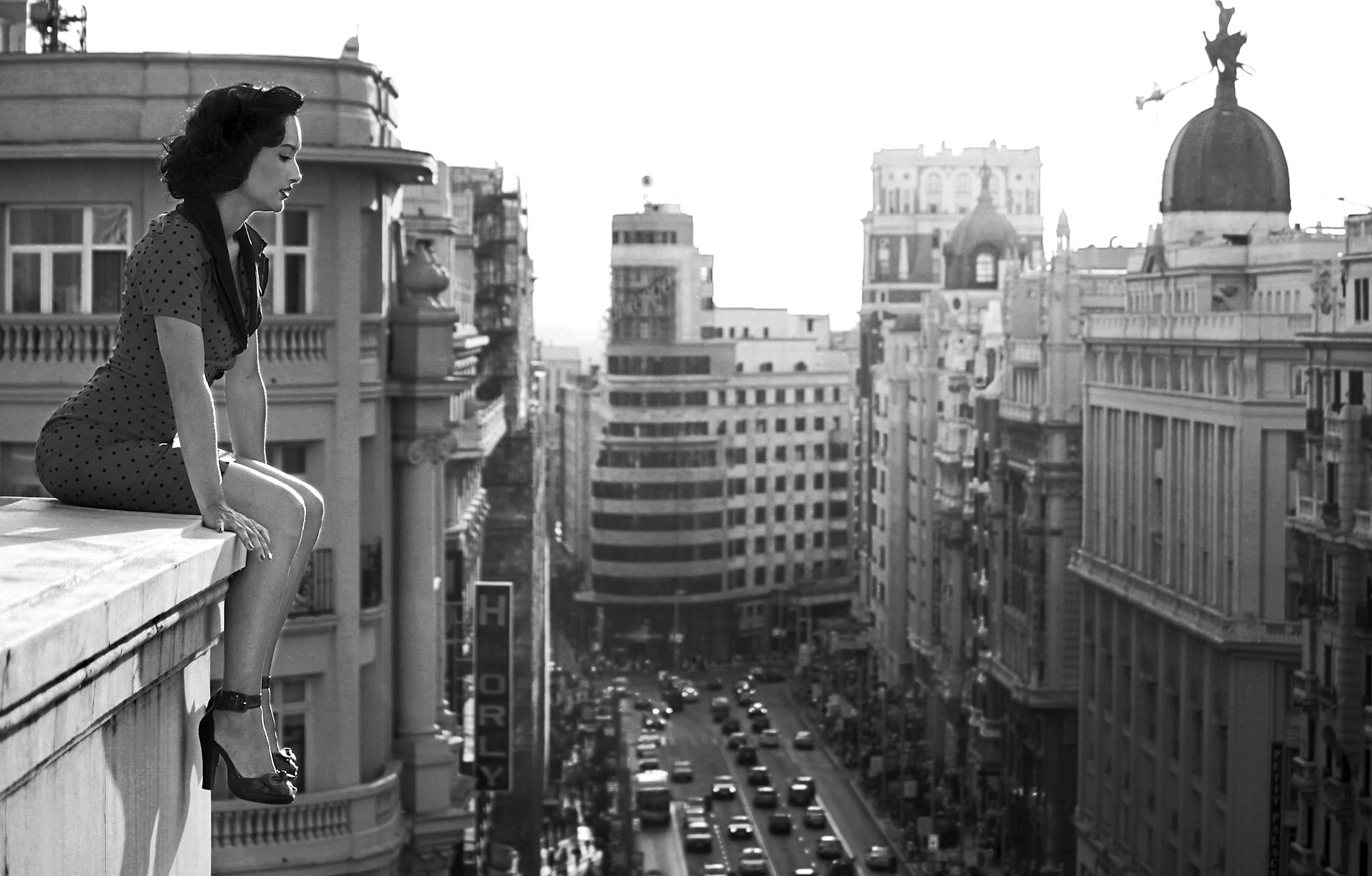 Black And White Madrid alejandro marcos film director and fine art photographer