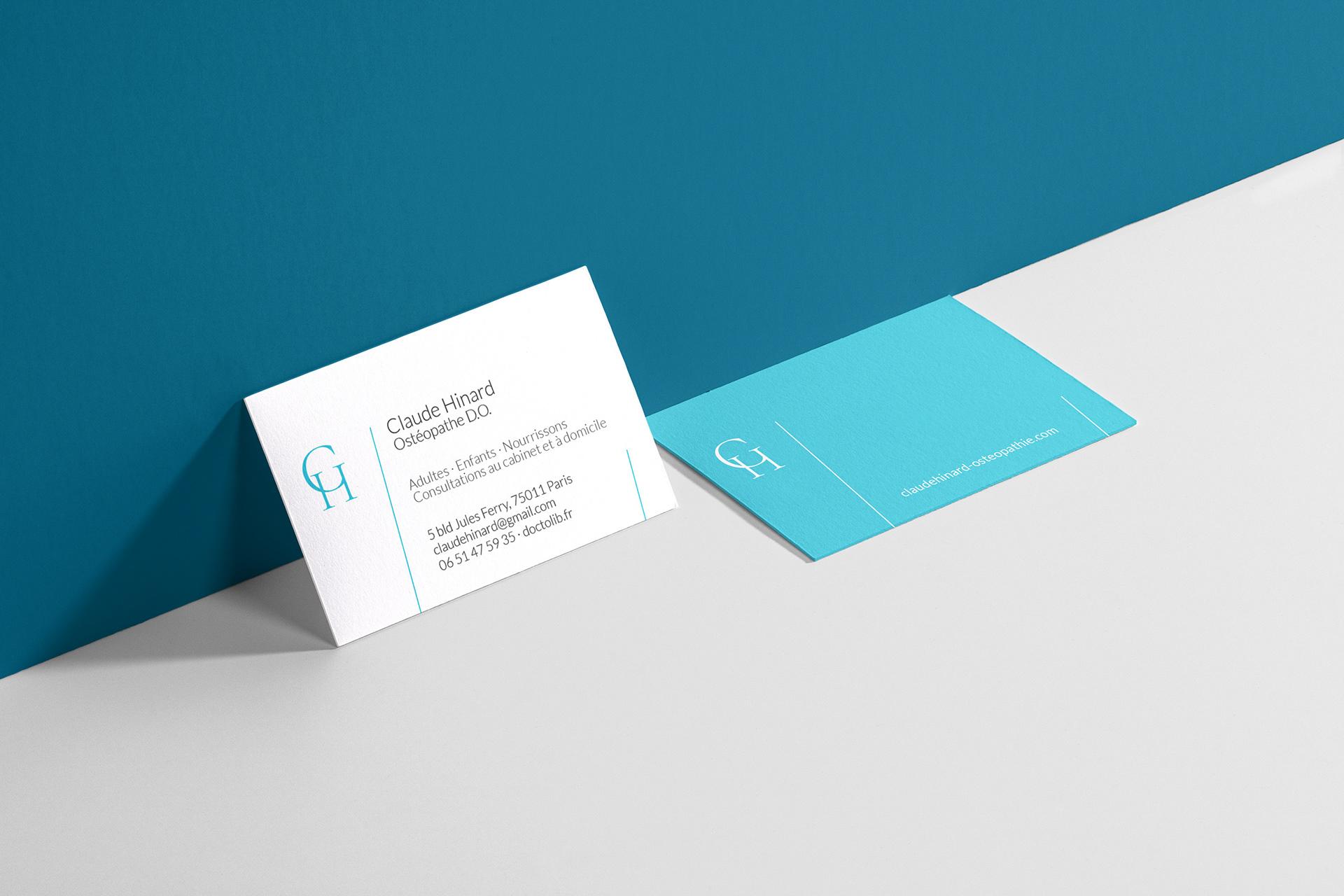 Creation Du Logo Compose Nom Et Des Initiales Mise En Page De La Carte Visite Integration