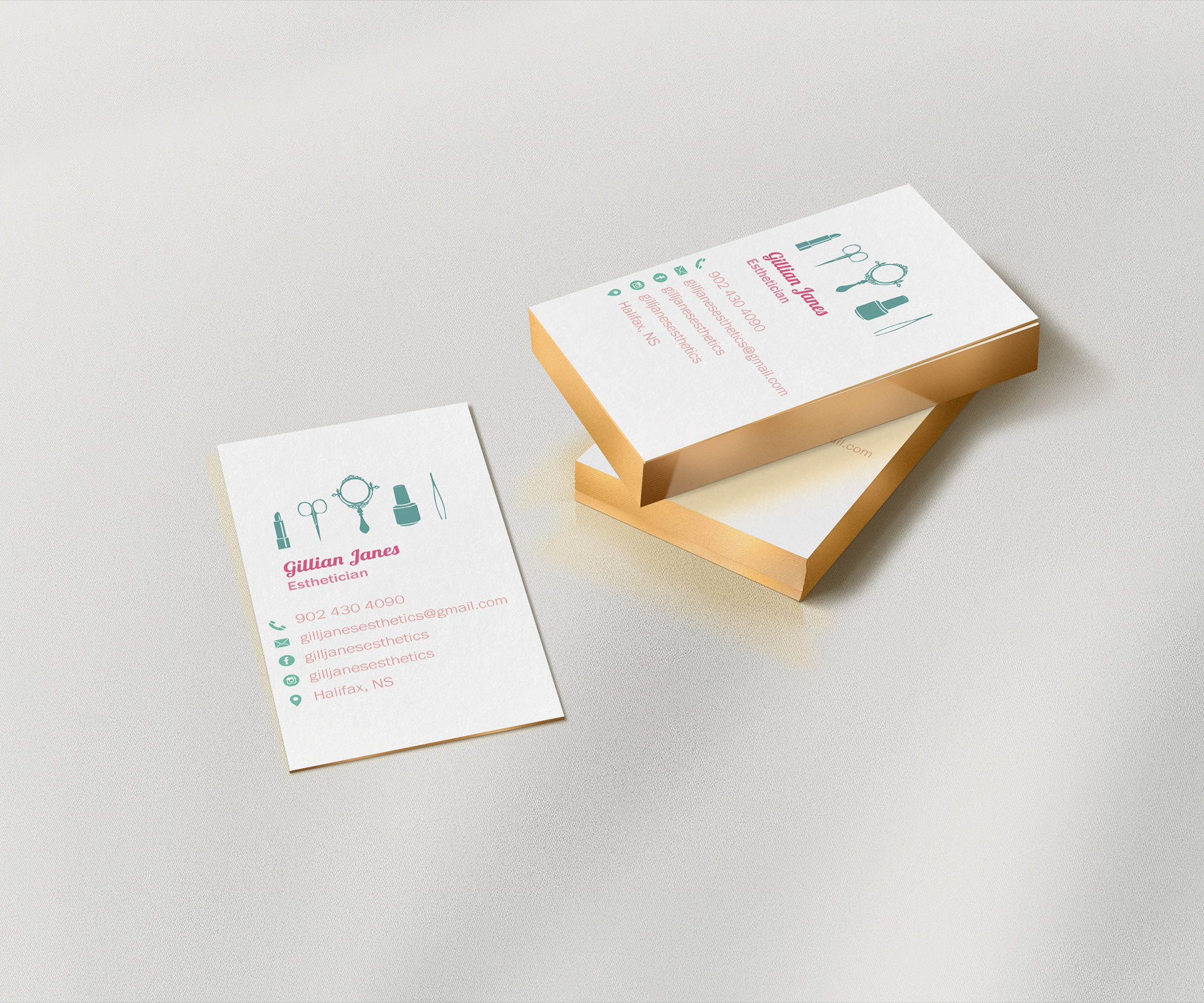Jessamyn Vanechuk - Esthetician Business Cards