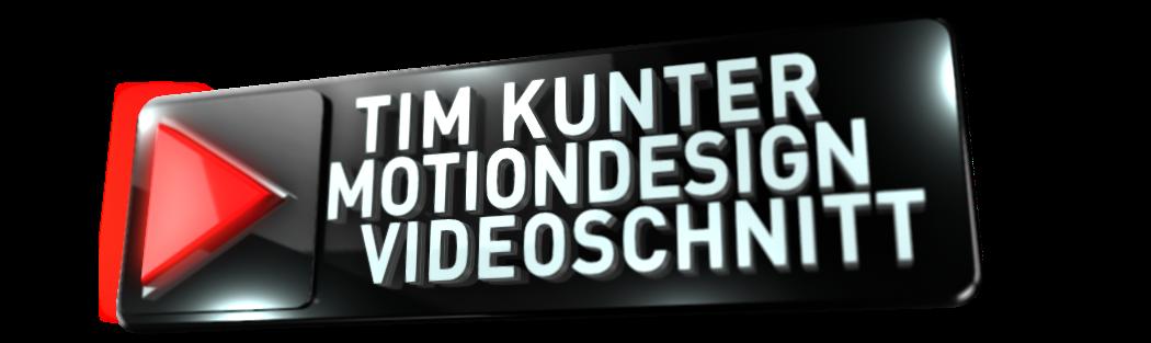 Tim Kunter Motiondesign Videoschnitt