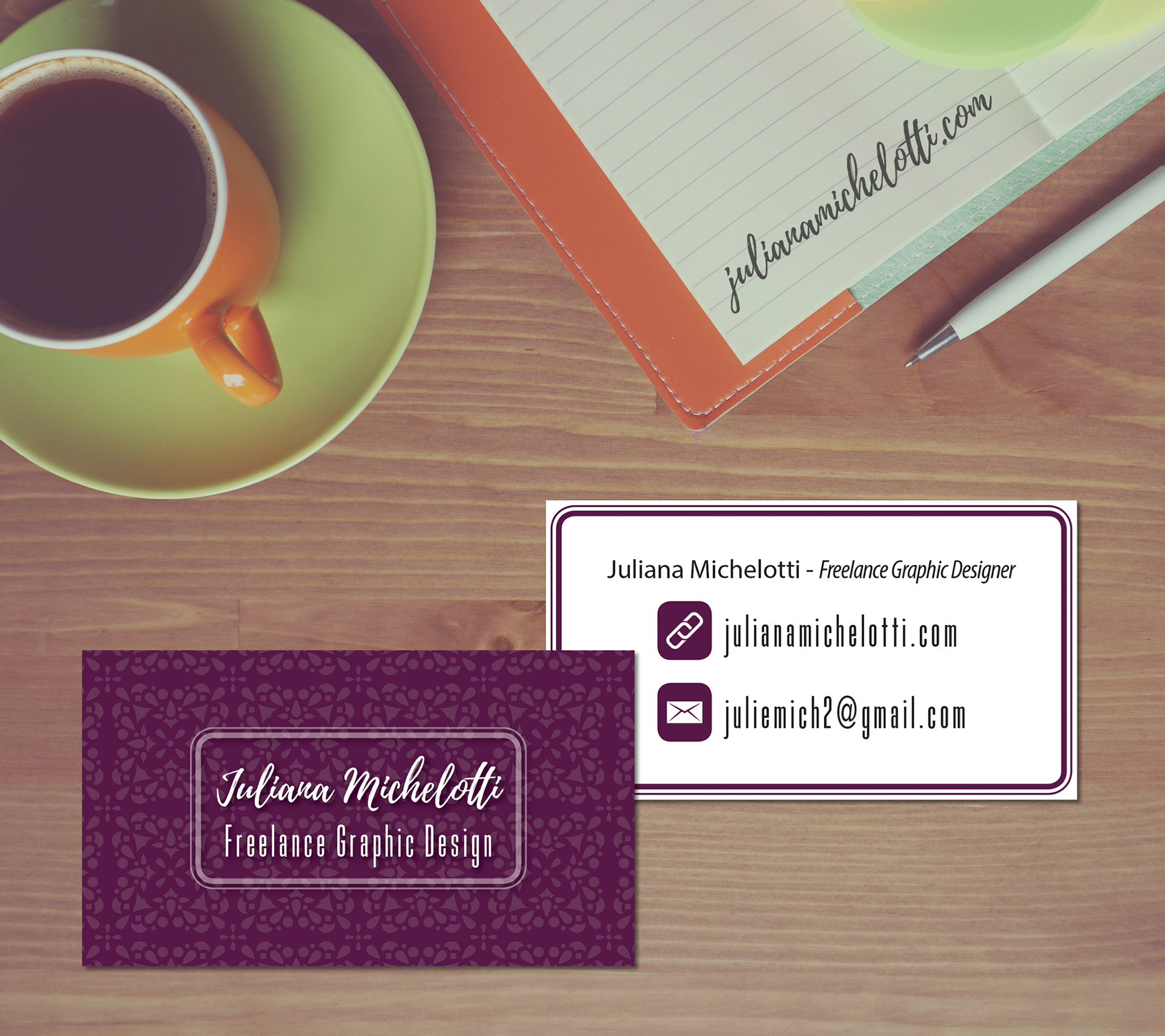 Juliana michelotti personal business card personal business card reheart Gallery