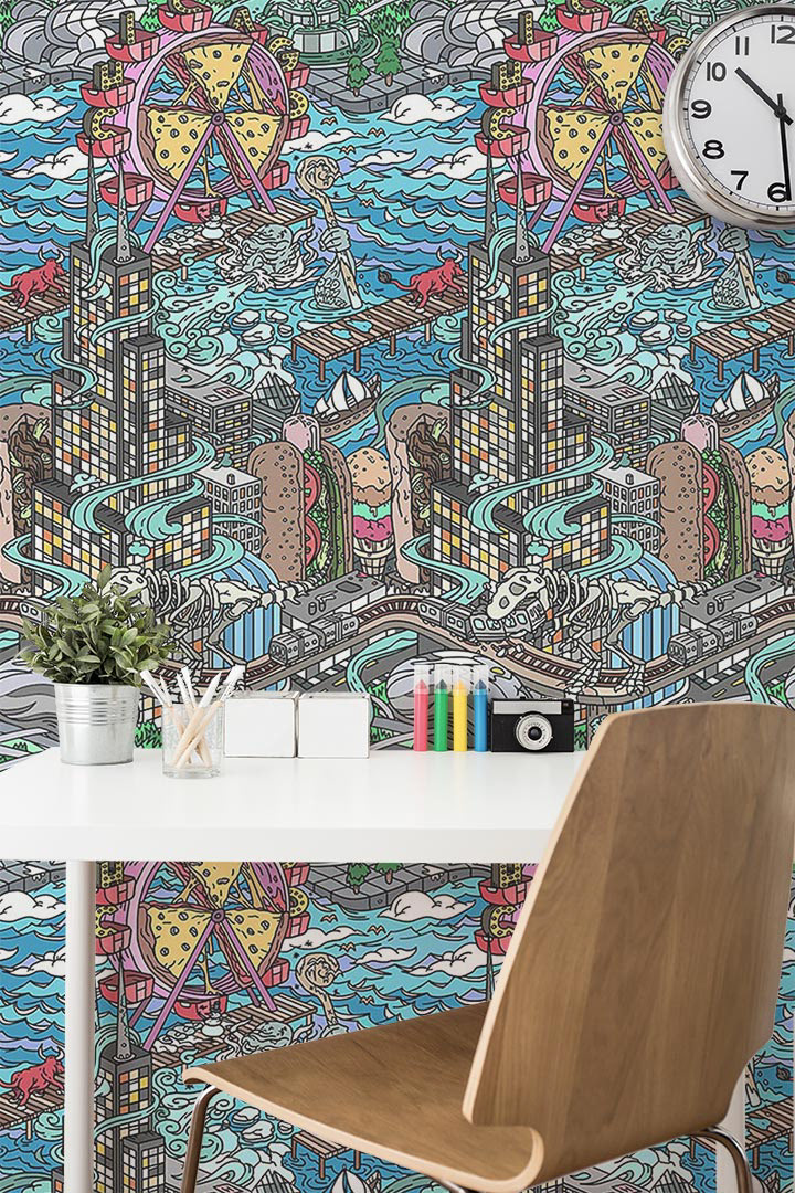 Ian Wenstrand - Chicago Coloring Wallpaper