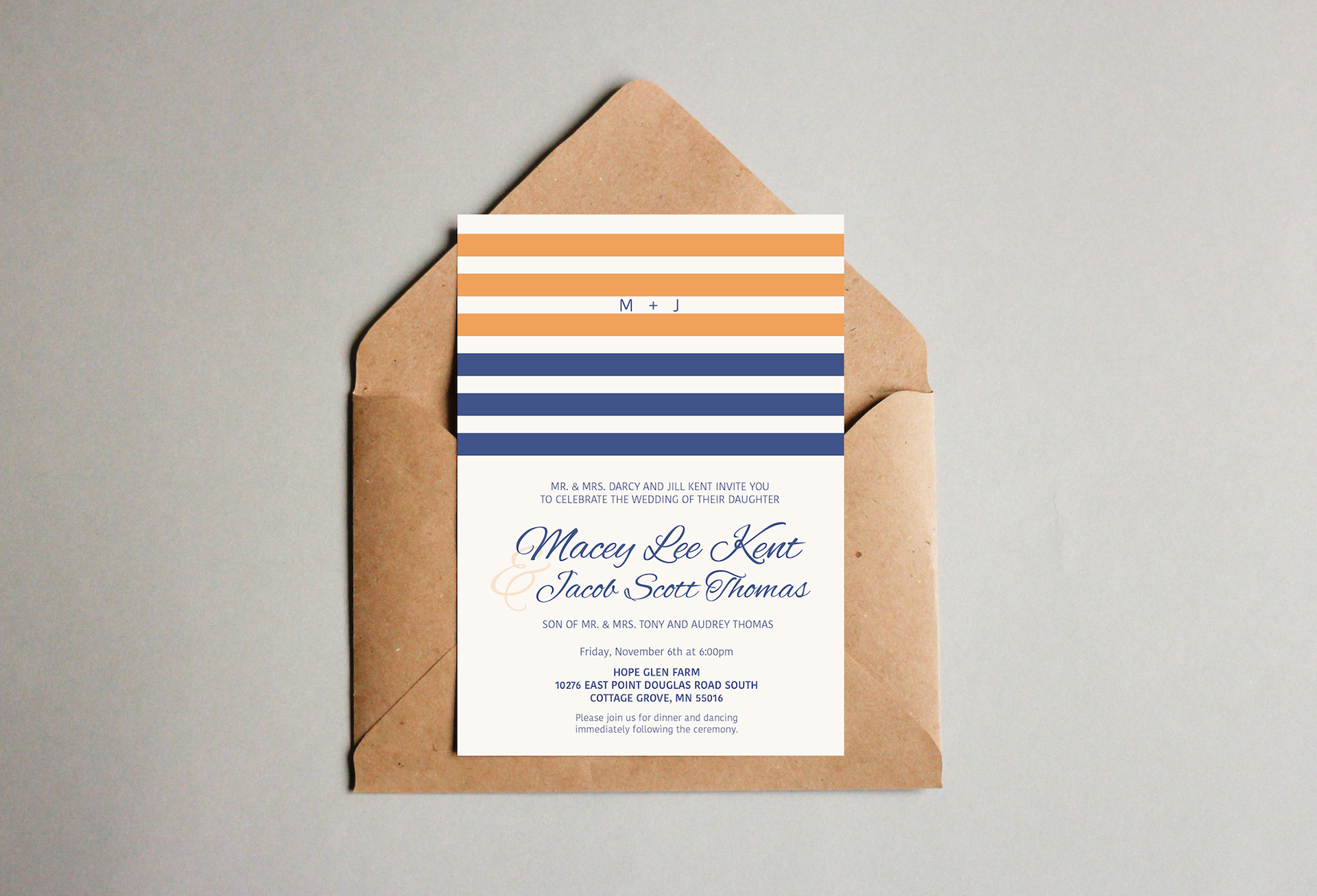 Chrissie Parker - Macey & Jacob Wedding Invitations
