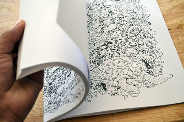 Doodle Invasion A Coloring Book Featuring 50 Unique And Detailed Doodles Illustrations Published By Zifflin In 2013