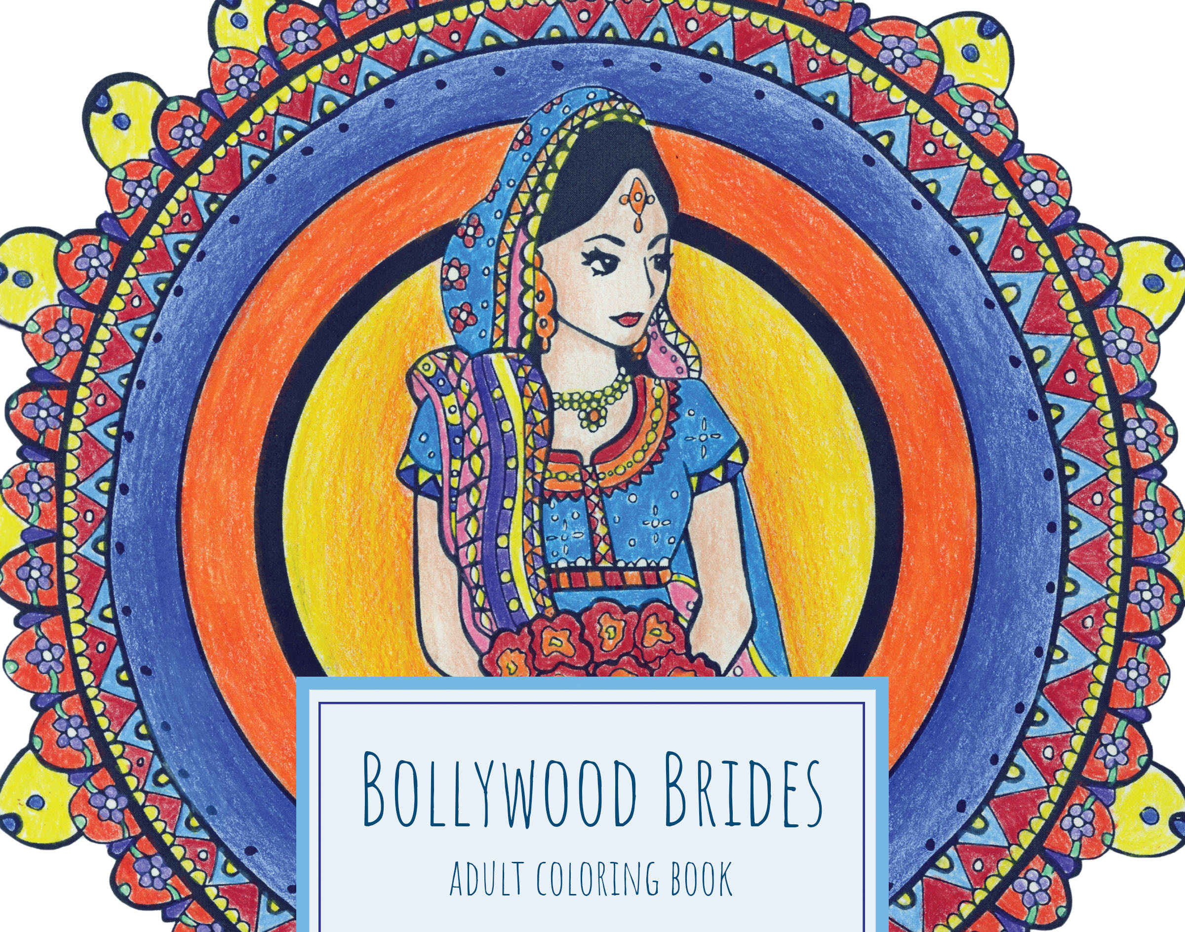 alexis manduke bollywood brides coloring book for adults