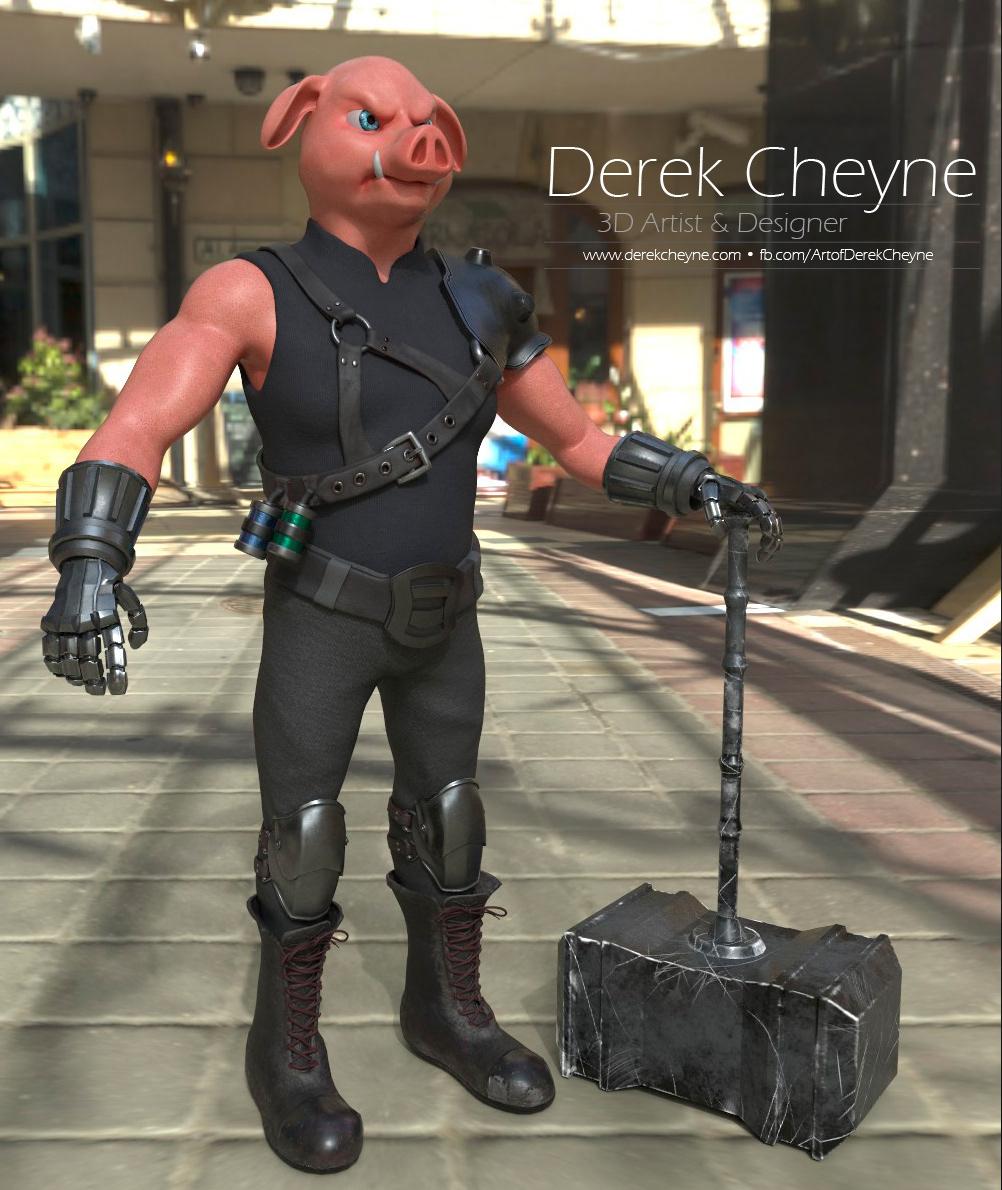 Derek Cheyne Concept Artist Writer Warner Bros S Film