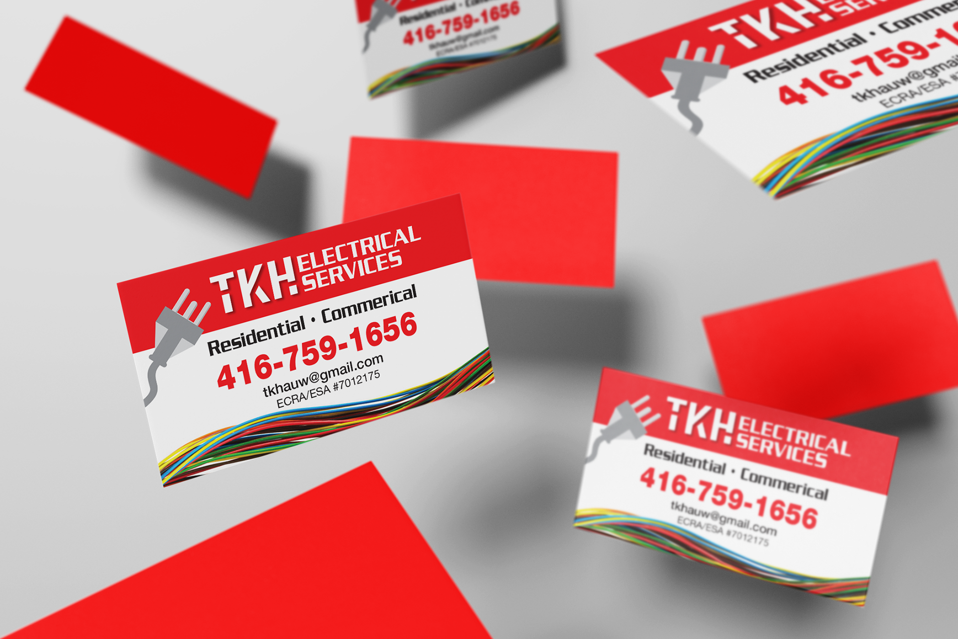 Brii Creative Portfolio Electrical Business Card