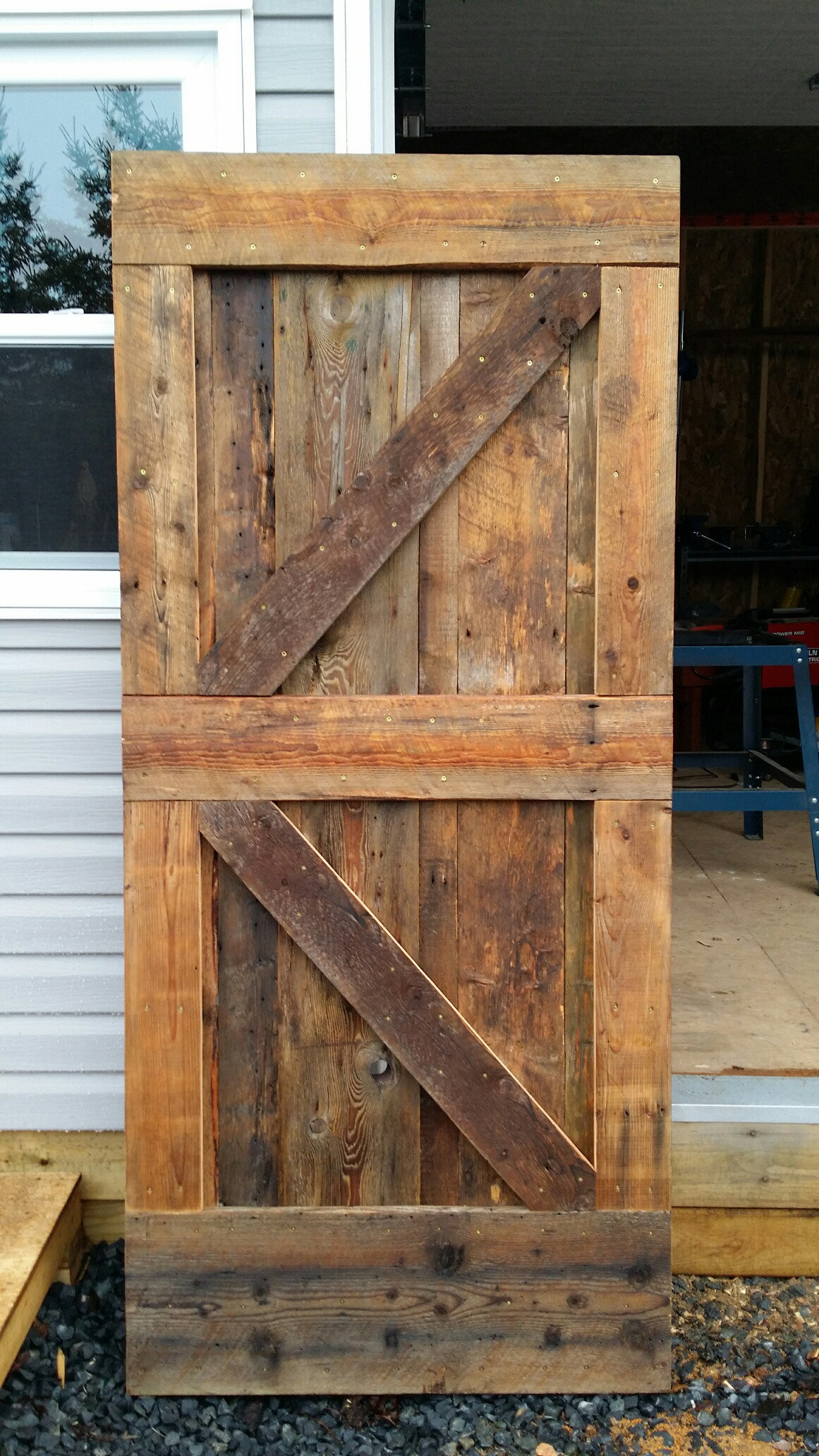 reclaimed hanger vertical wood door doors with sliding sawmill barn d barns slat