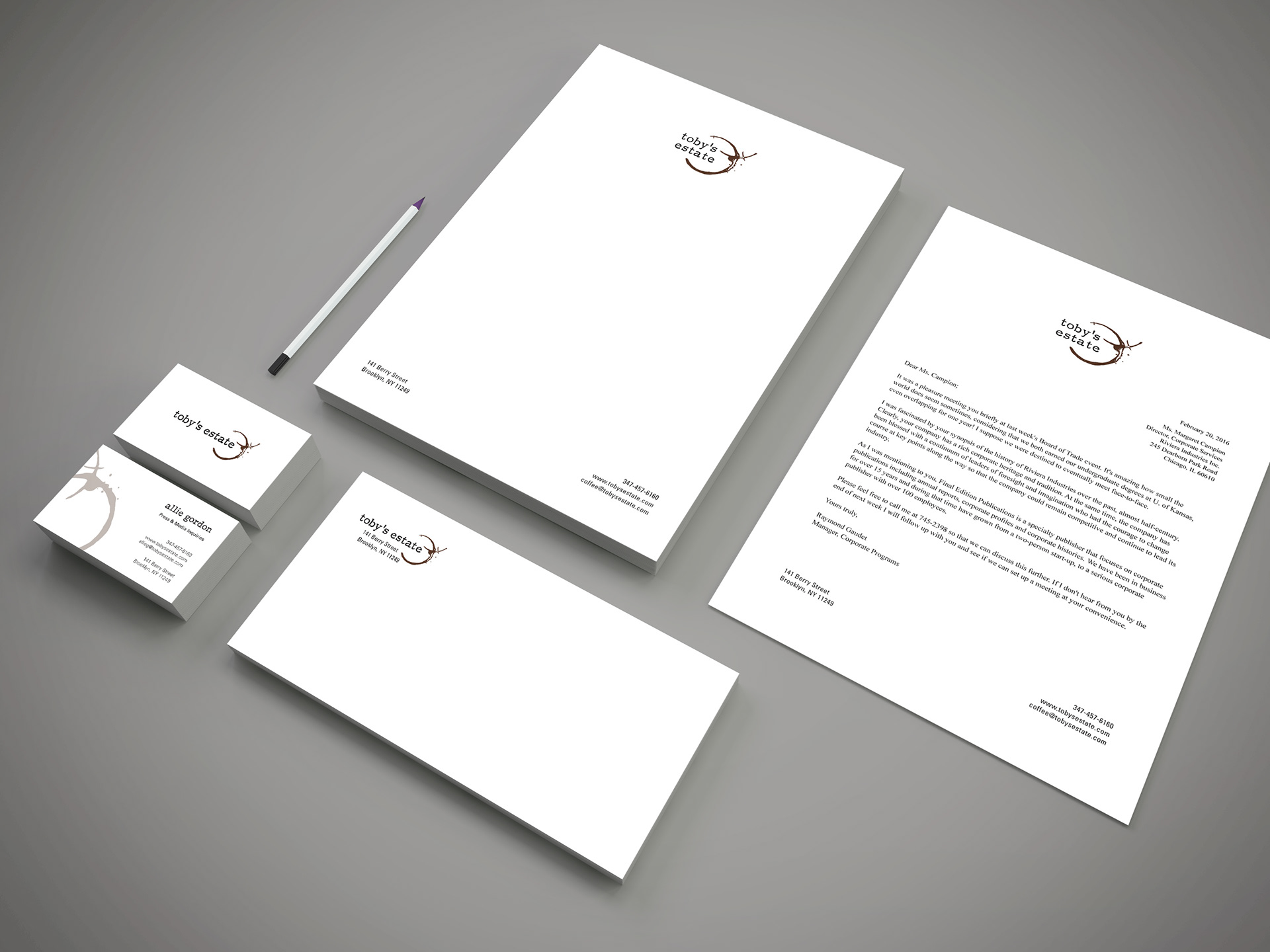 Ma Designs Studio - Toby\'s Estate - Branding