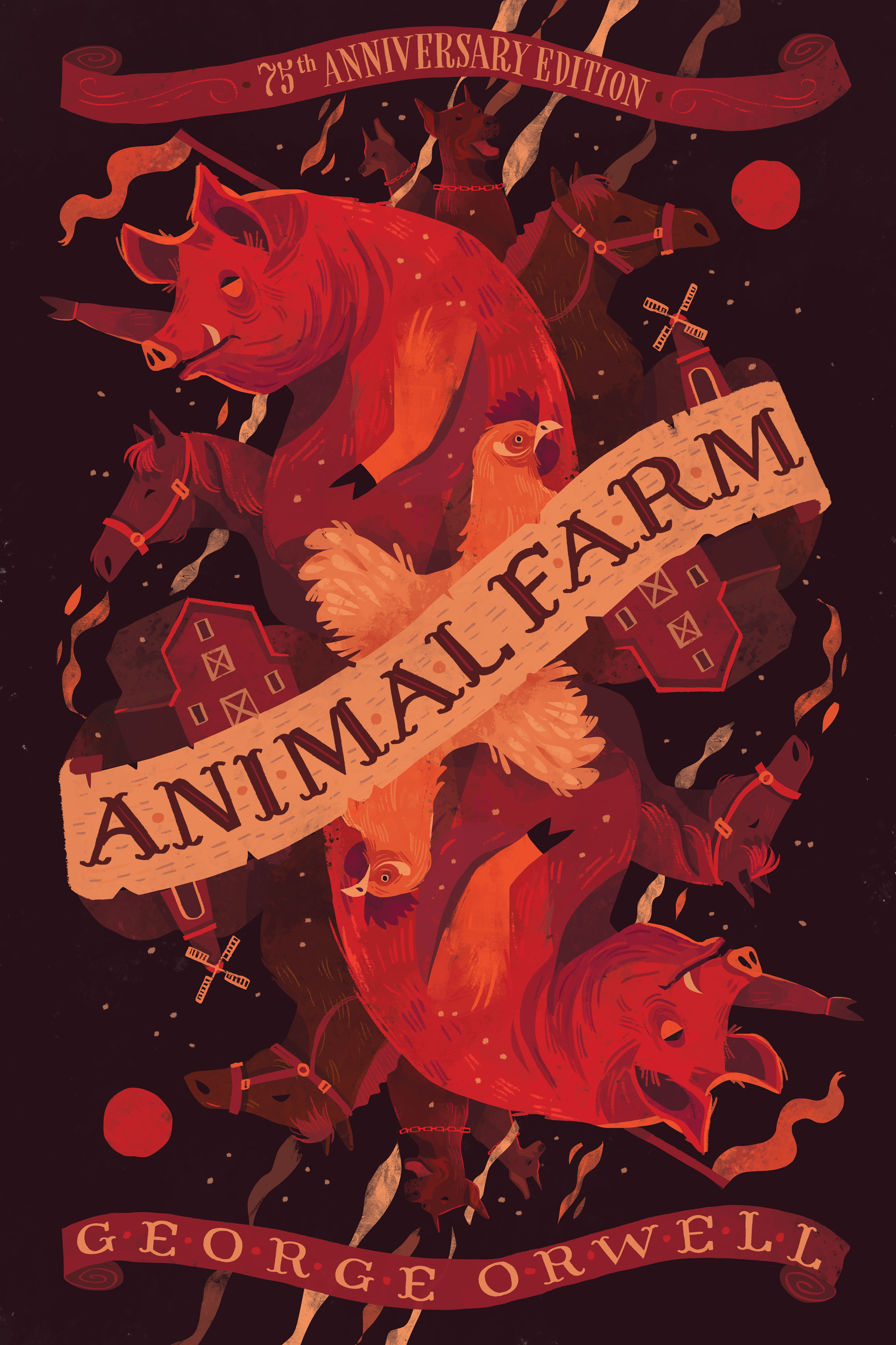 Chaaya Prabhat S Portfolio Animal Farm By George Orwell Book Cover Design