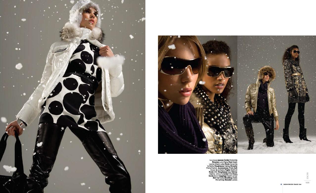 Fashion Magazine Models Chill - Fashion feature snow magazine