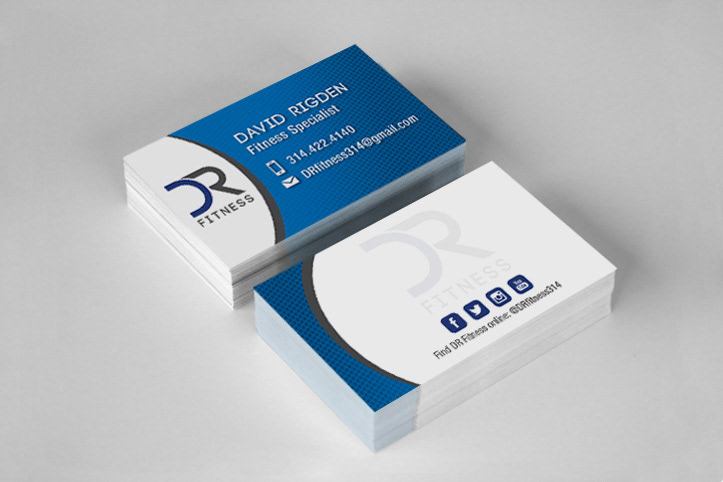 Steffanie pisula personal trainer business card and logo he wanted a logo to represent his brand dr fitness after working with him to design his logo i also created his business cards reheart Gallery