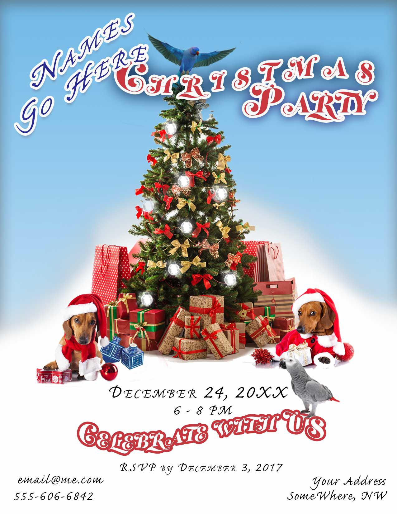 j milano designs web portfolio christmas party evite