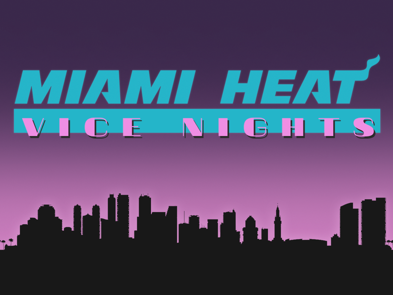 Carwyn Thomas Miami Heat Vice Nights 2016 Original Rebrand