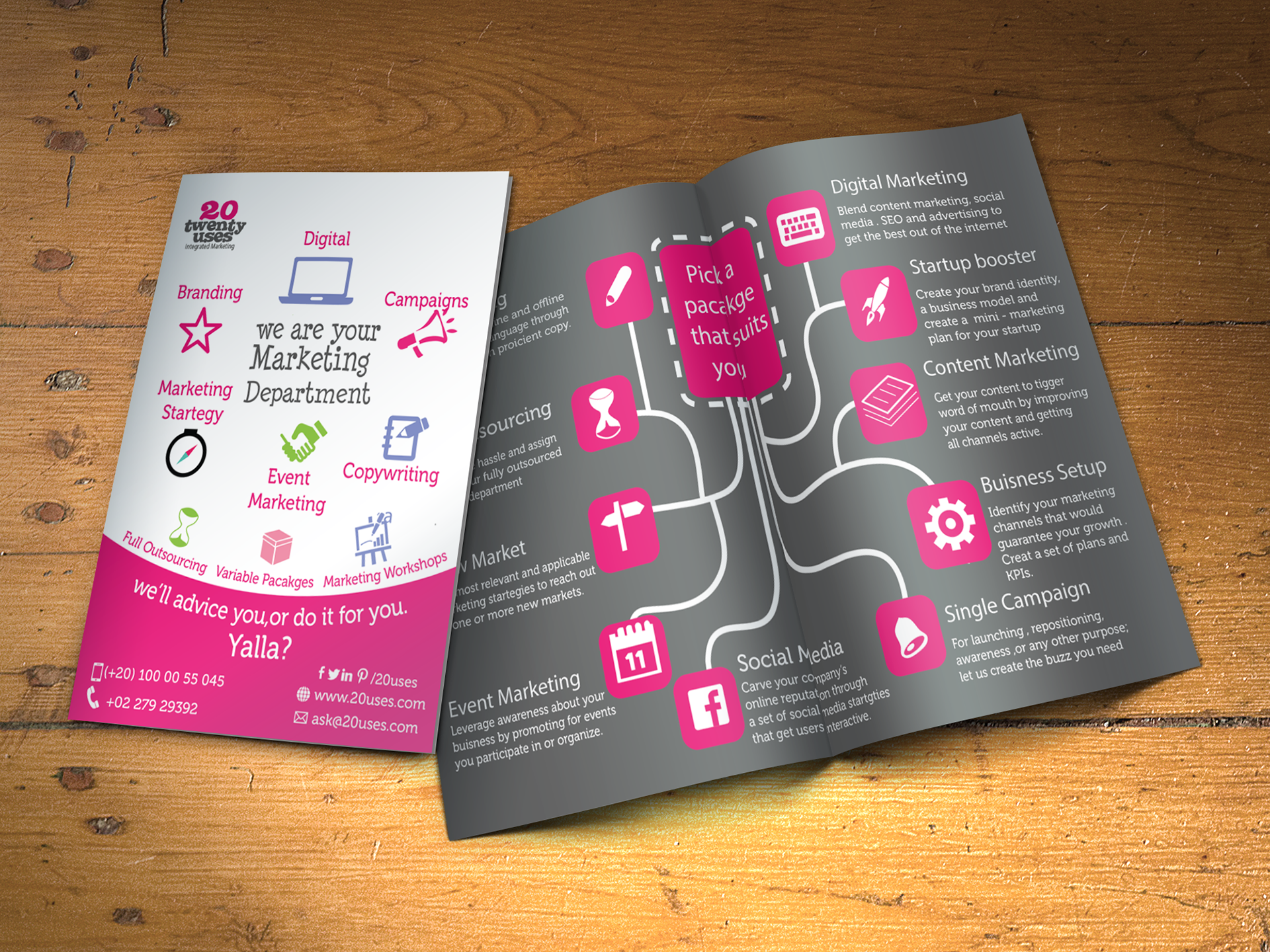 sarah nour brochure design