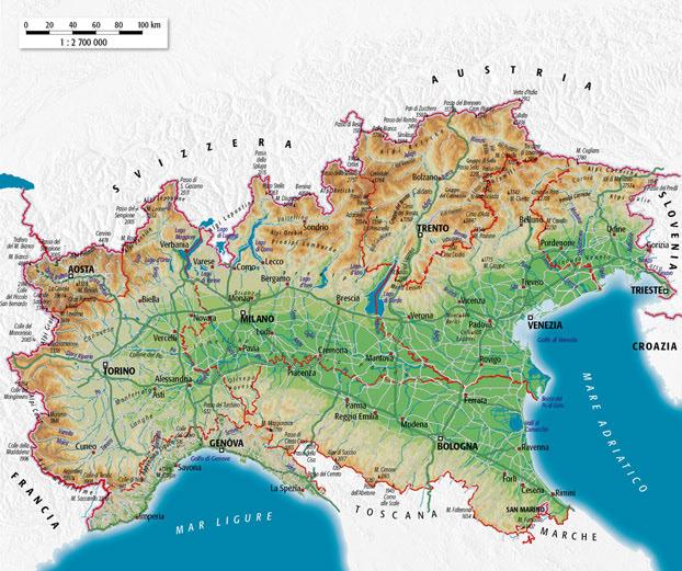 Cartina Fisica Dell Italia Settentrionale.Daniela Blandino Cartografia Cartography