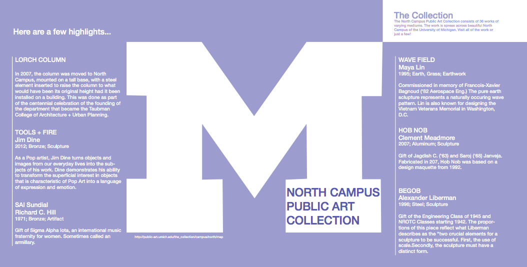 Olivia Moore North Campus Public Art Collection Map
