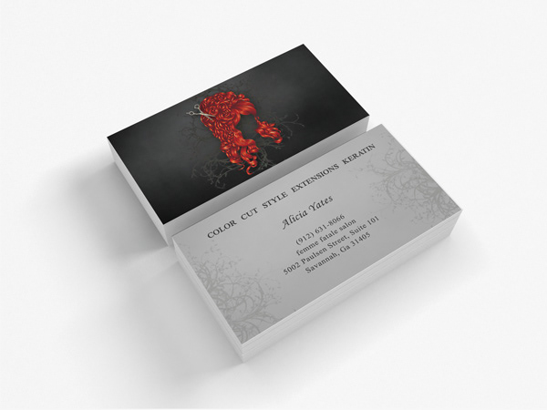 Victoria rose visual creative business card design a darker style of unique business card design inspired by gothic romance tones reheart Images