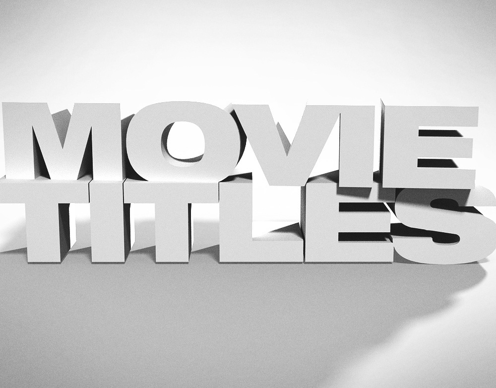 22 movie titles reworded for simplicity