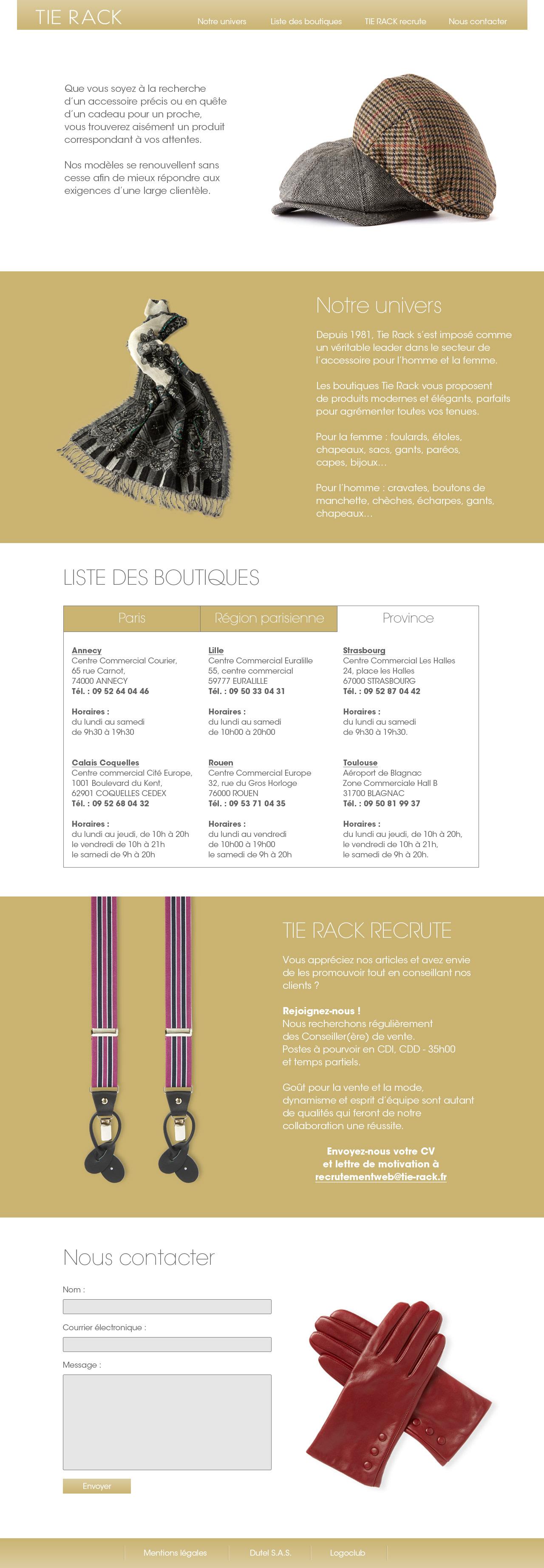 Alexandre Graindorge - Senior Designer - Tie Rack France Website