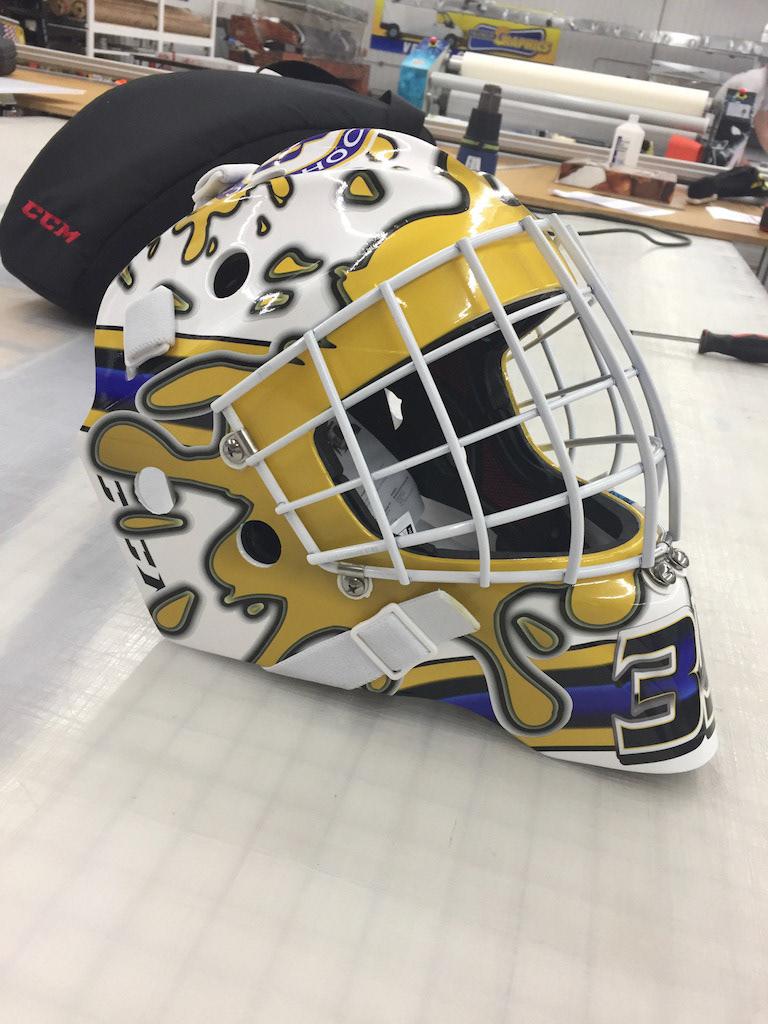 Rick Ruter Cathedral Hs Goalie Mask