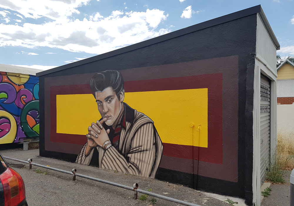 Art by Paul Deej - Elvis Presley Mural