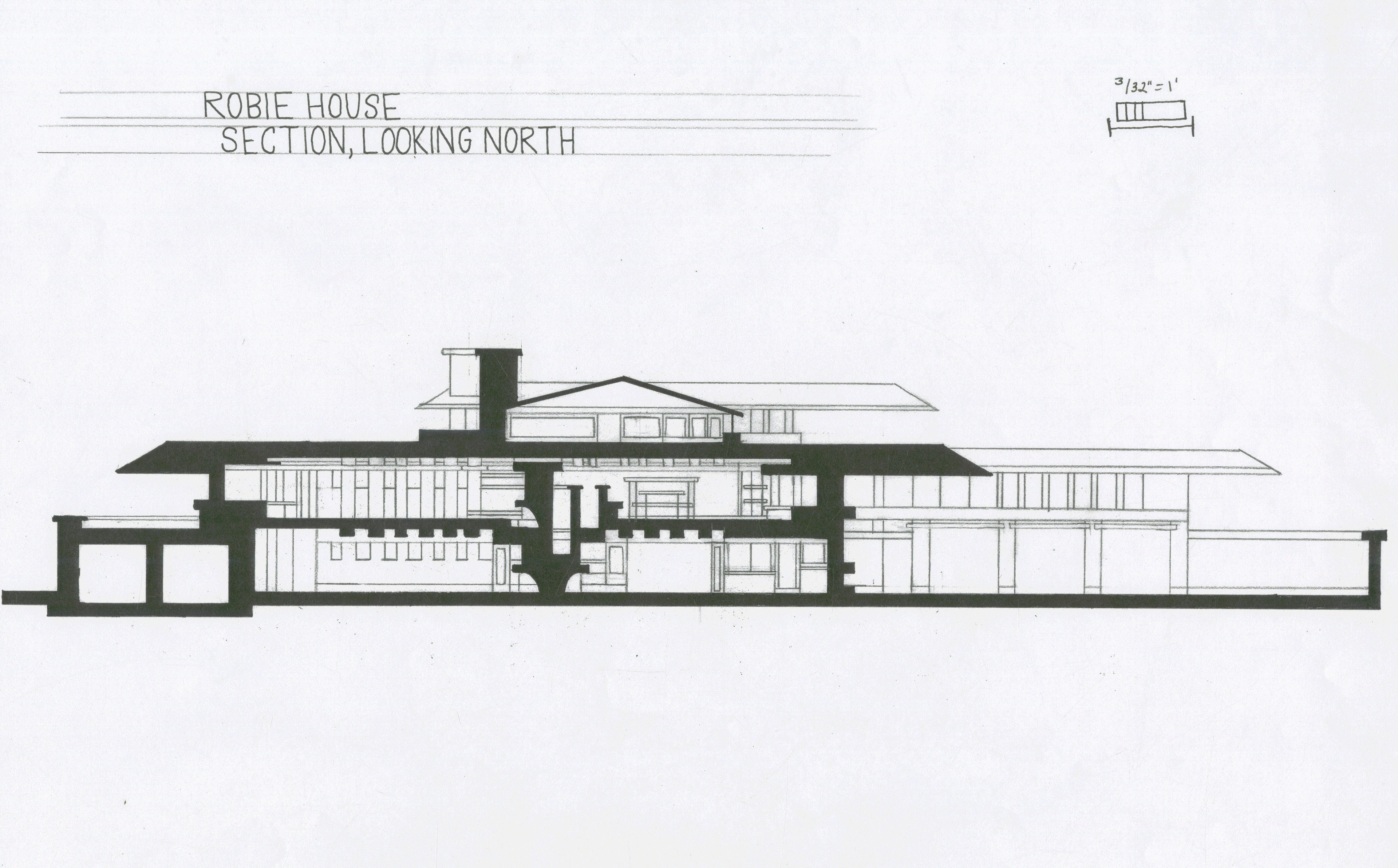 Robie House Plan Section Elevation - House Plans