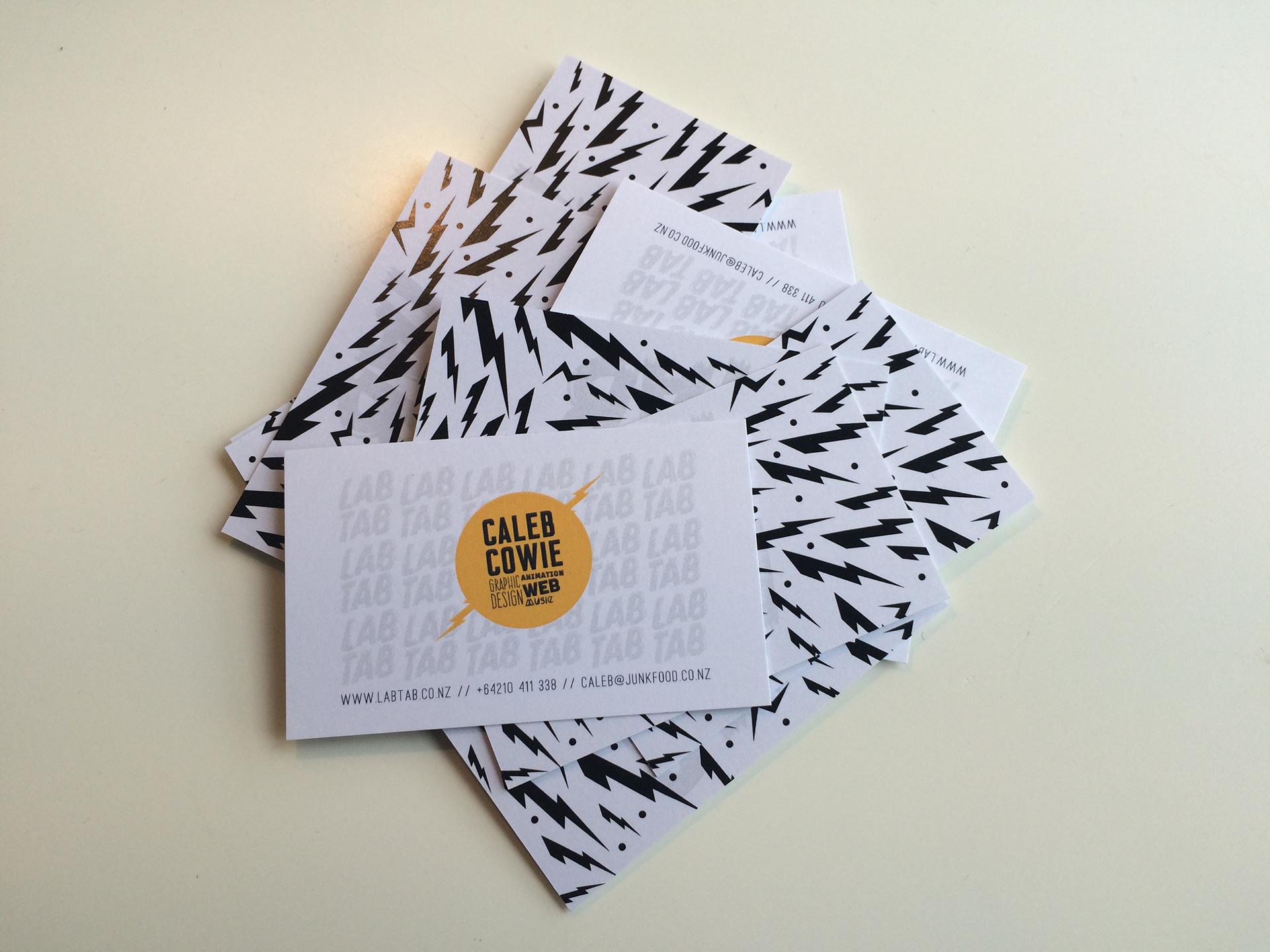 Caleb Cowie - Labtab business cards