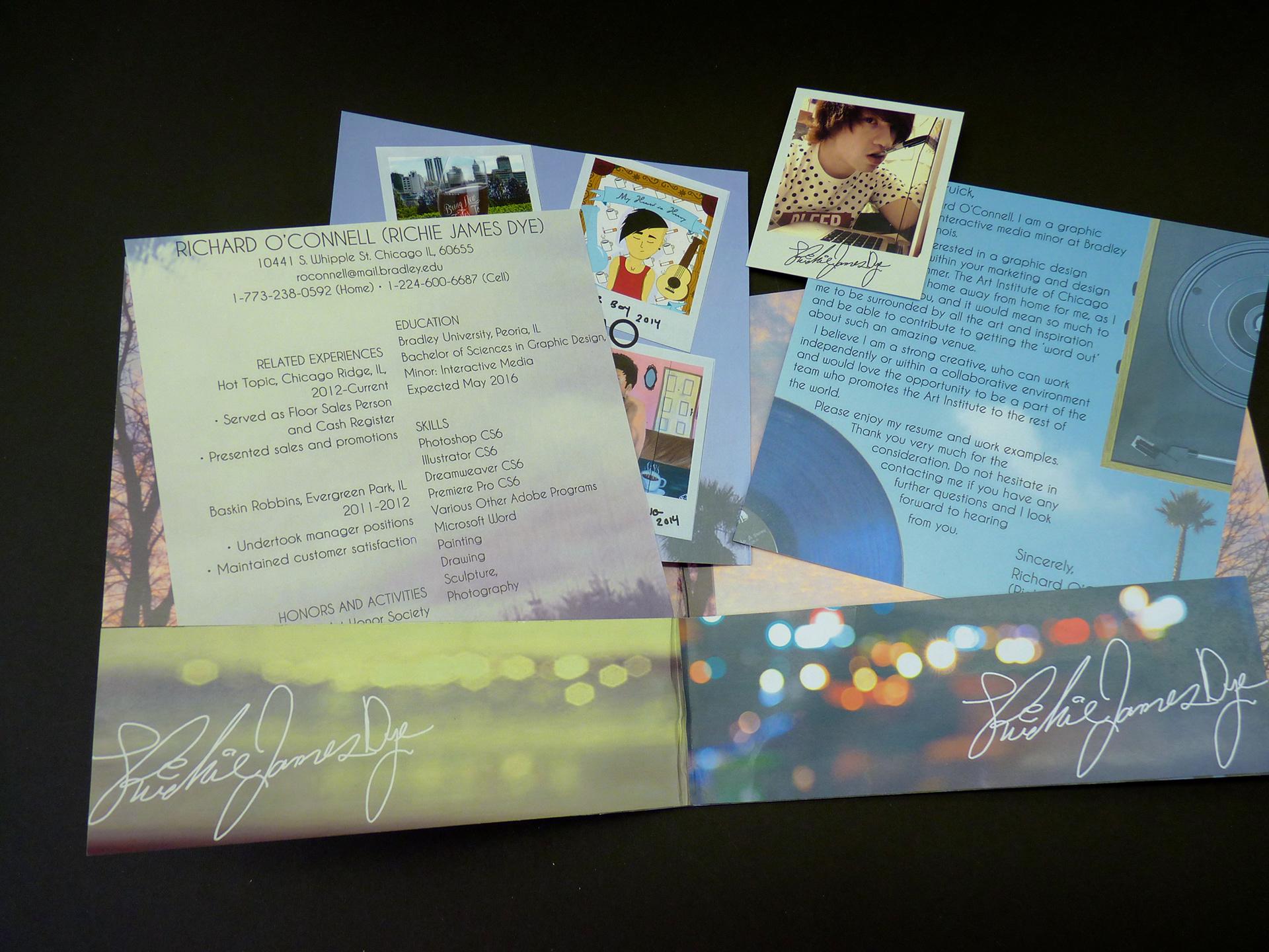 RICHIE Graphic Designer - Resume Package Design