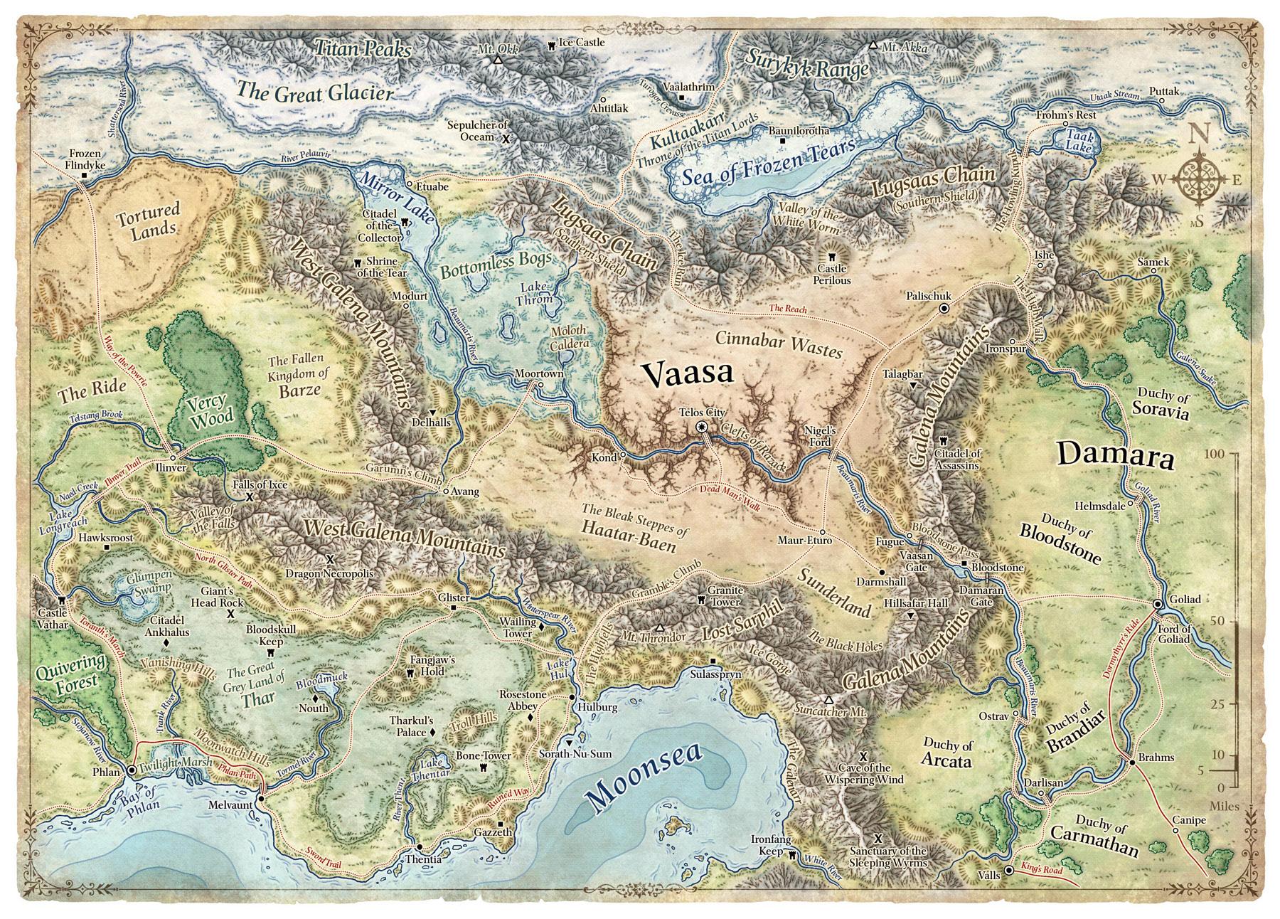 Mike Schley\'s Portfolio - World & Regional Maps