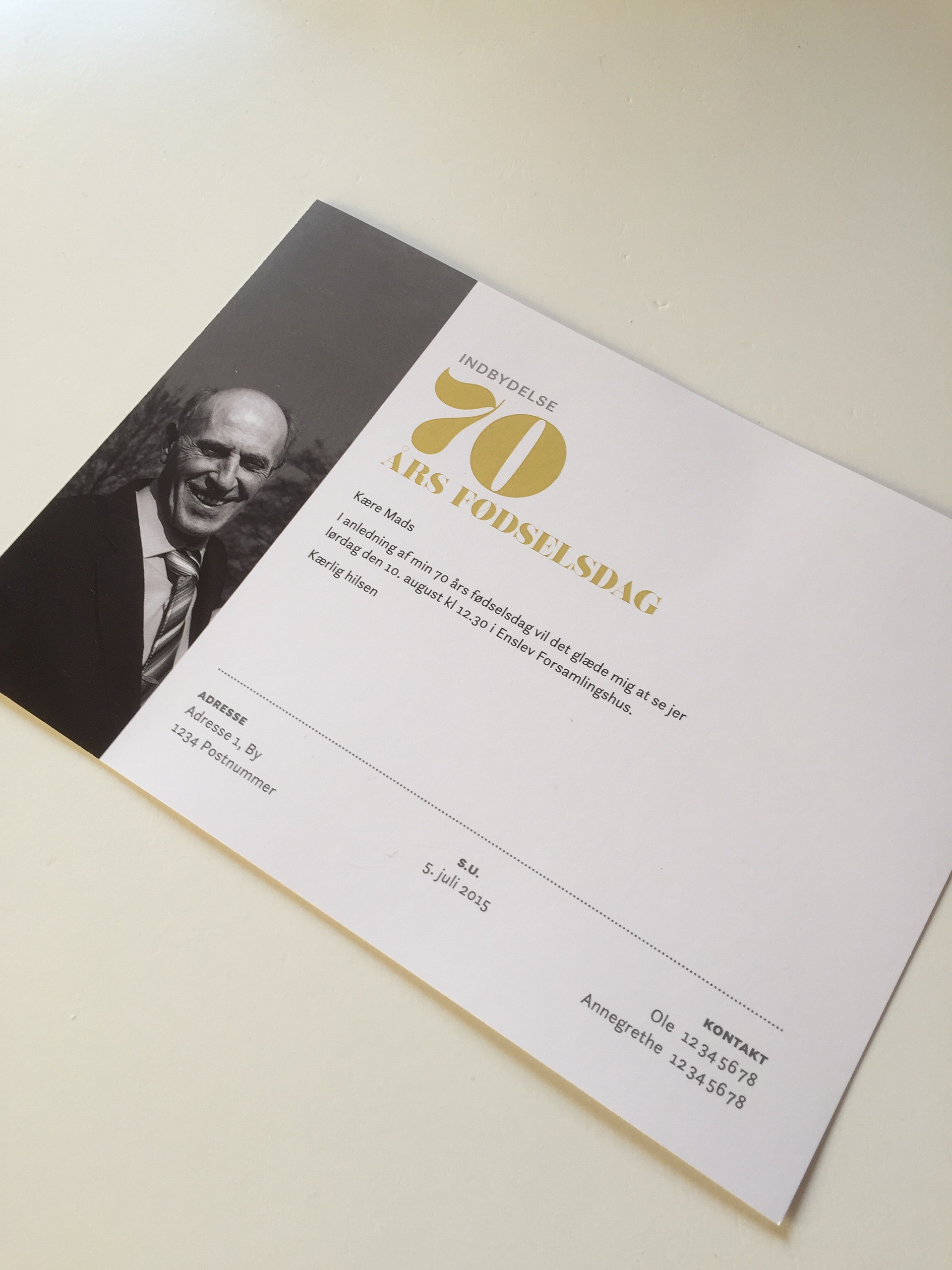 This Is The Invitation I Did For My Dads 70th Birthday
