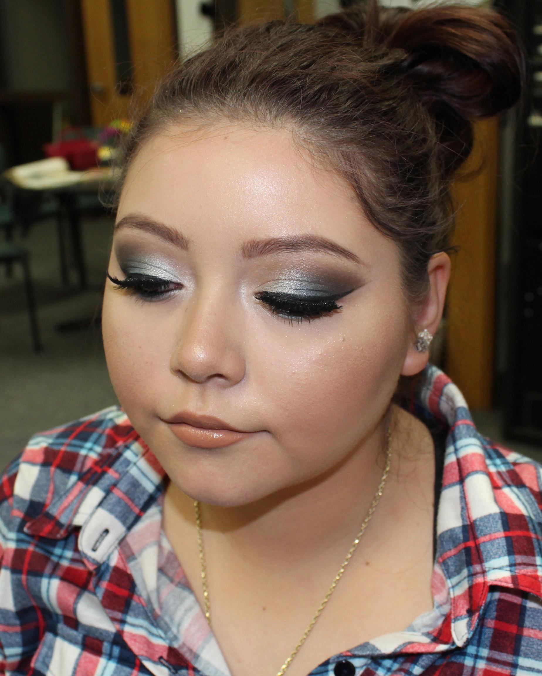 Angelie Herreria Logan High School Prom Makeup